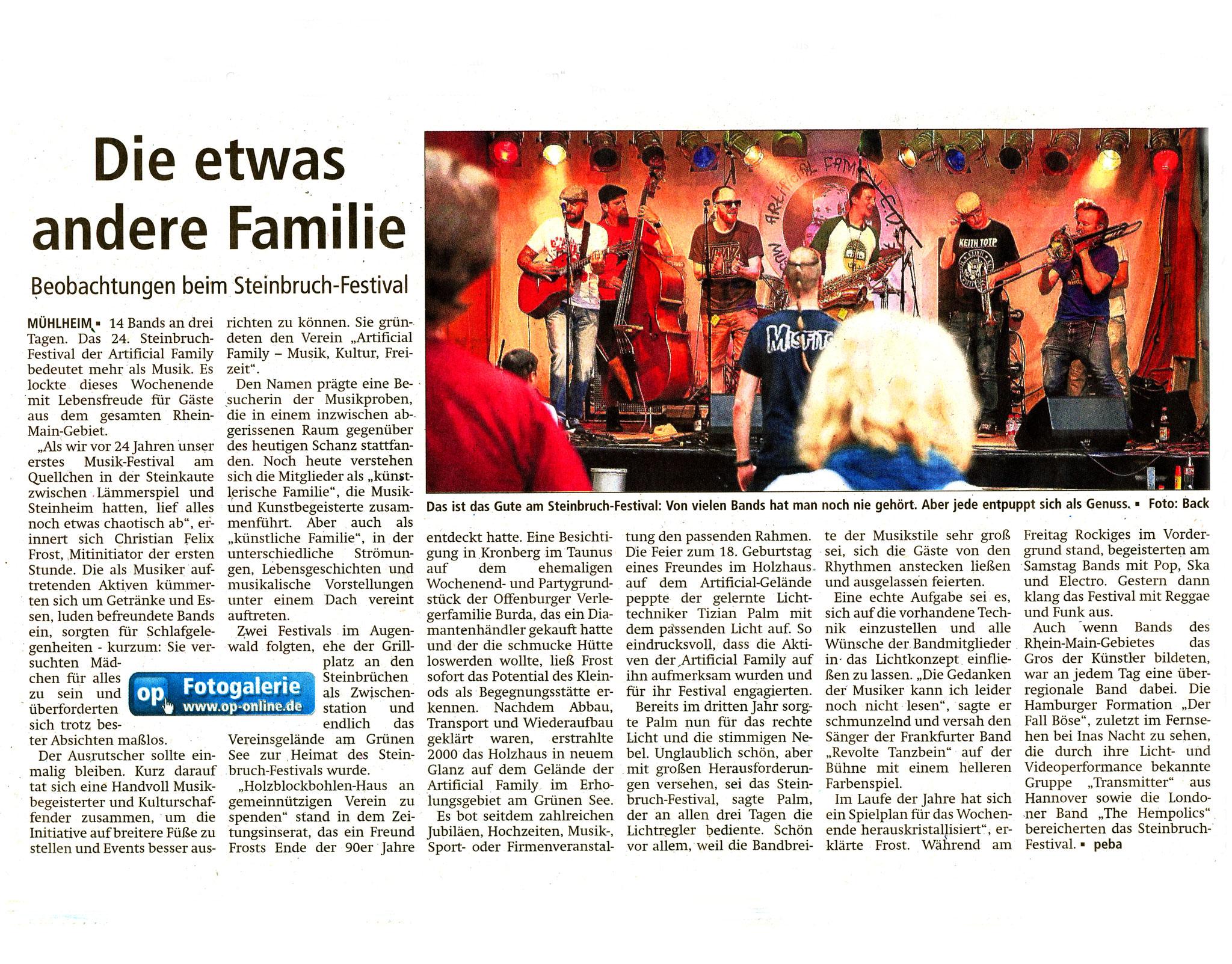 Offenbach Post, 18. Juli 2016