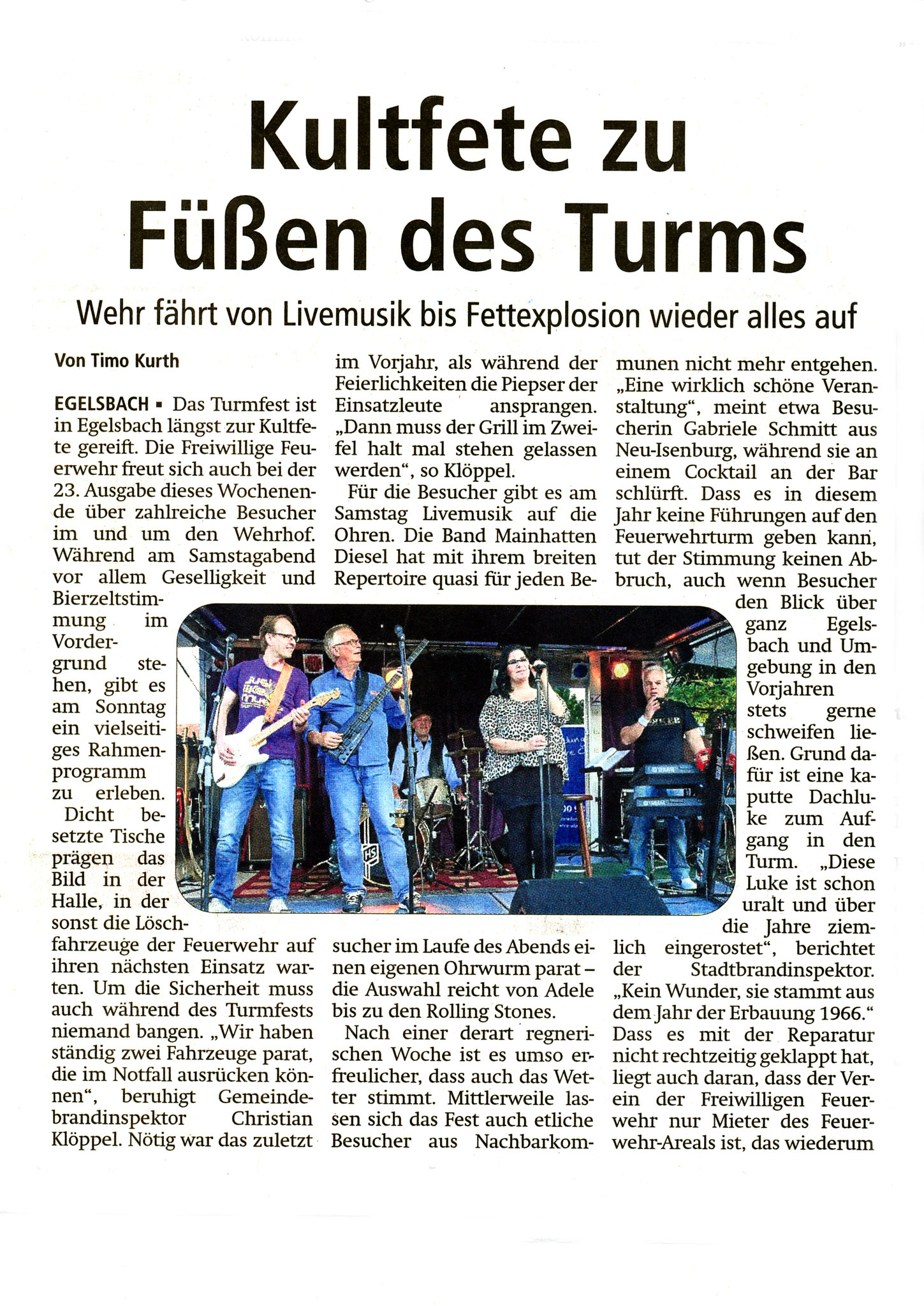 Offenbach Post, 8. August 2016