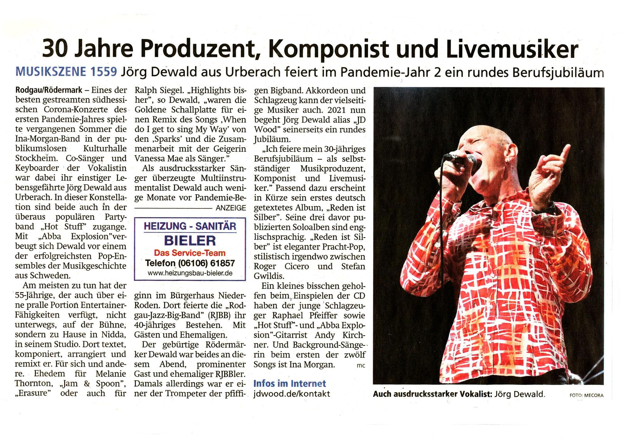 Artikel Offenbach Post, 24. April 2021