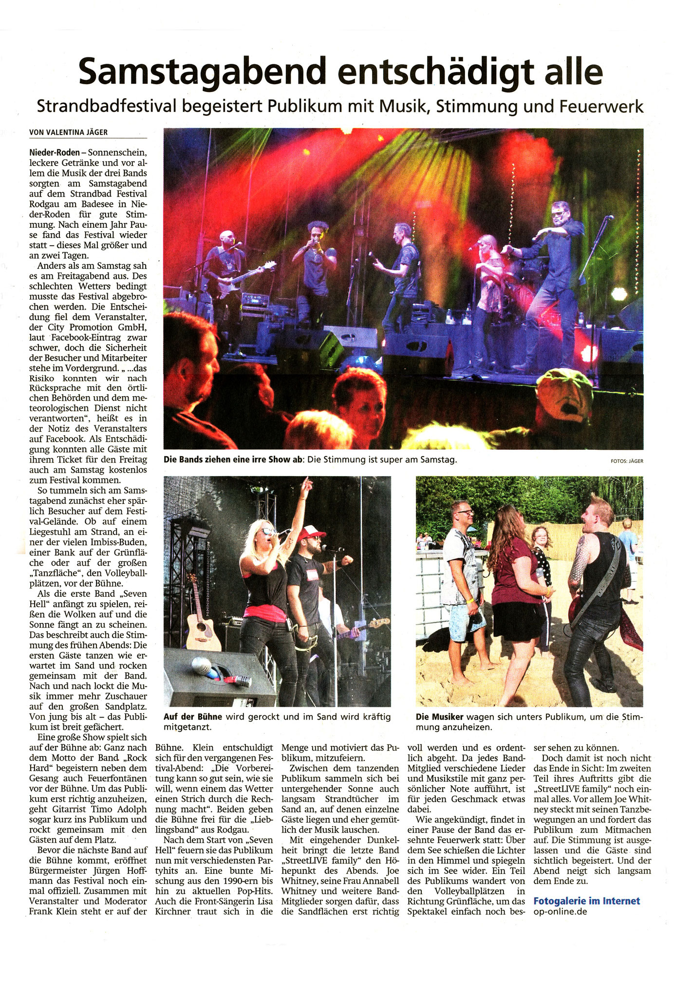 Offenbach Post, 12. August 2019