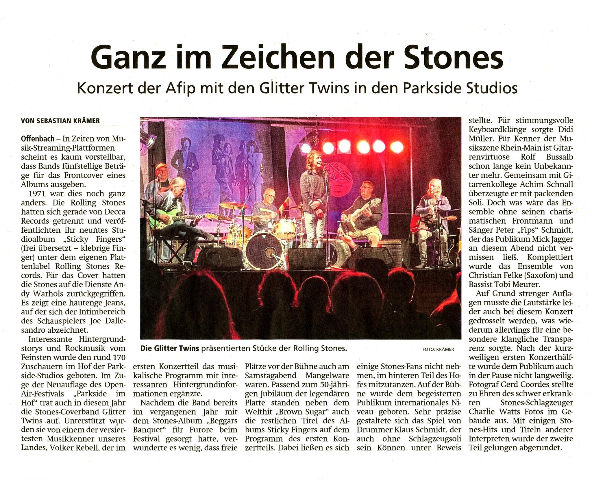 Artikel Offenbach Post, 10. August 2021