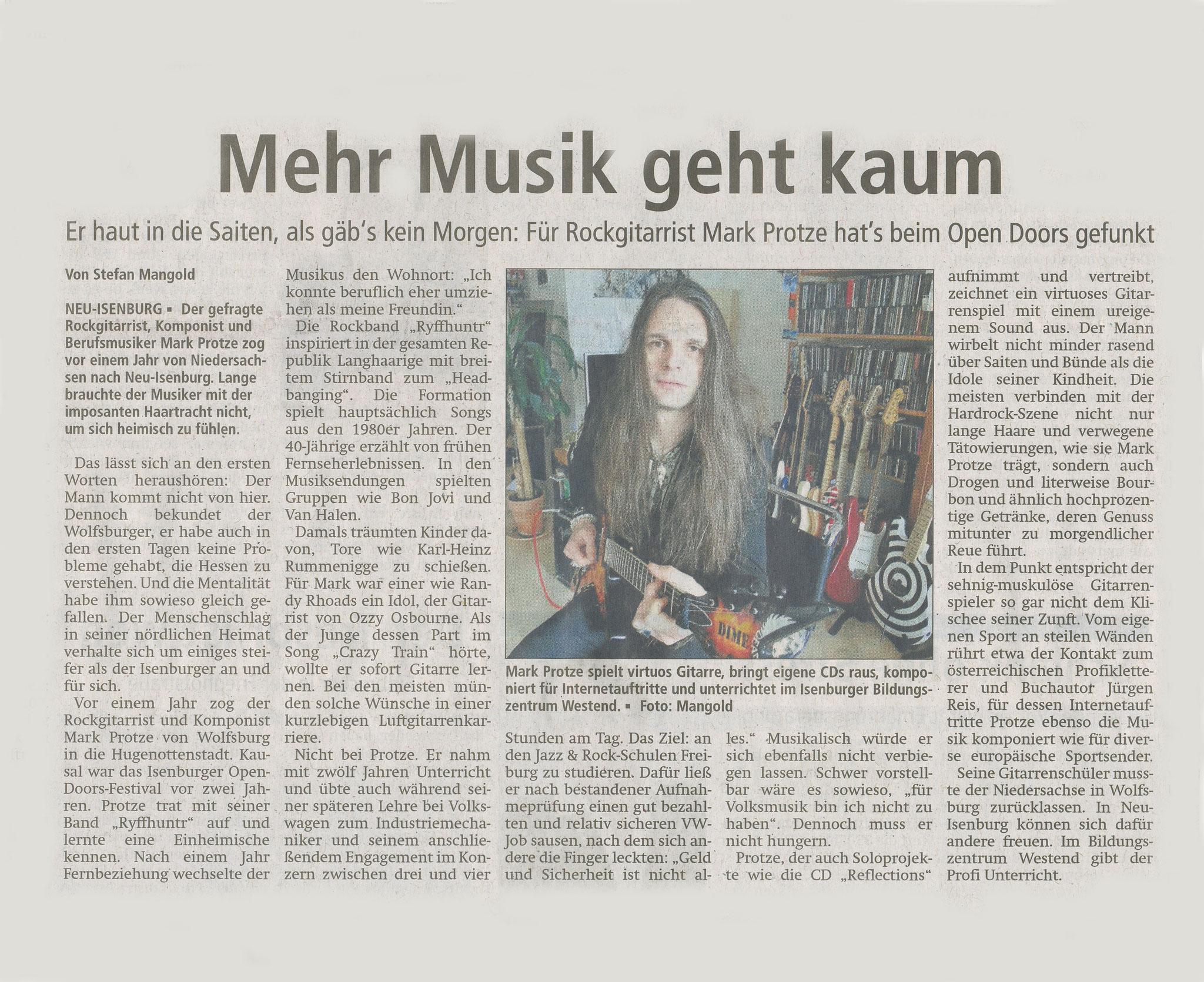 Artikel Offenbach Post, 17. Februar 2016