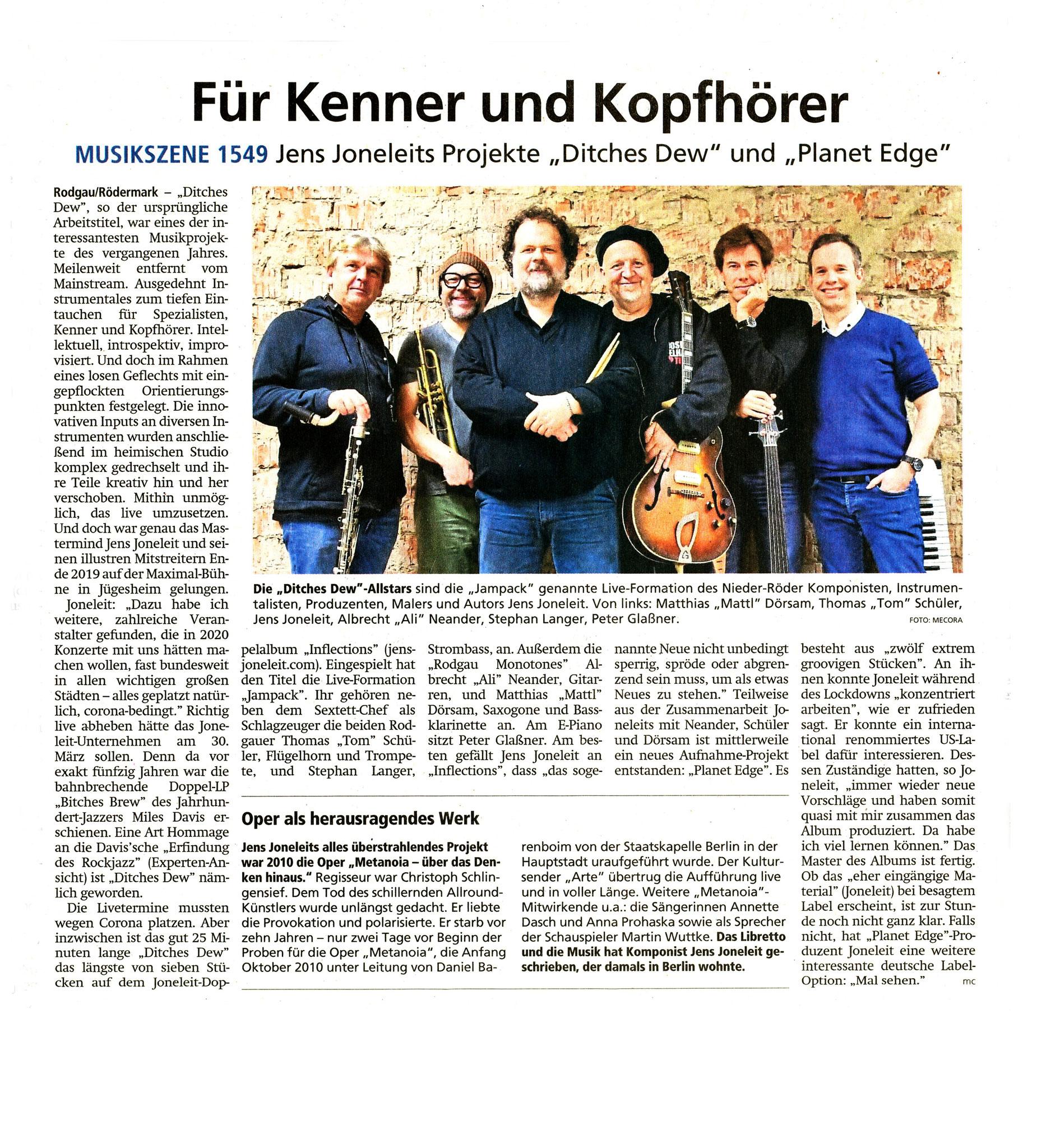 Offenbach Post, 8. Oktober 2020