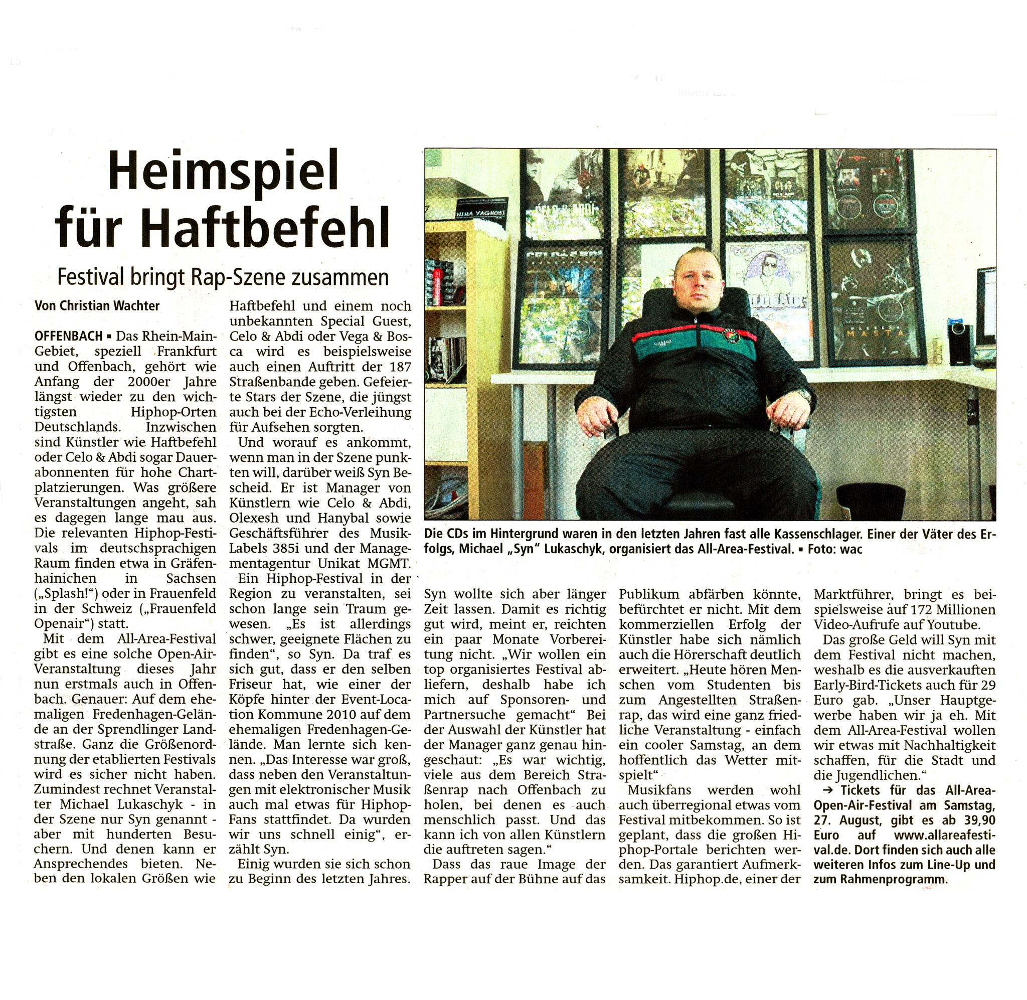 Offenbach Post, 19. Mai 2016