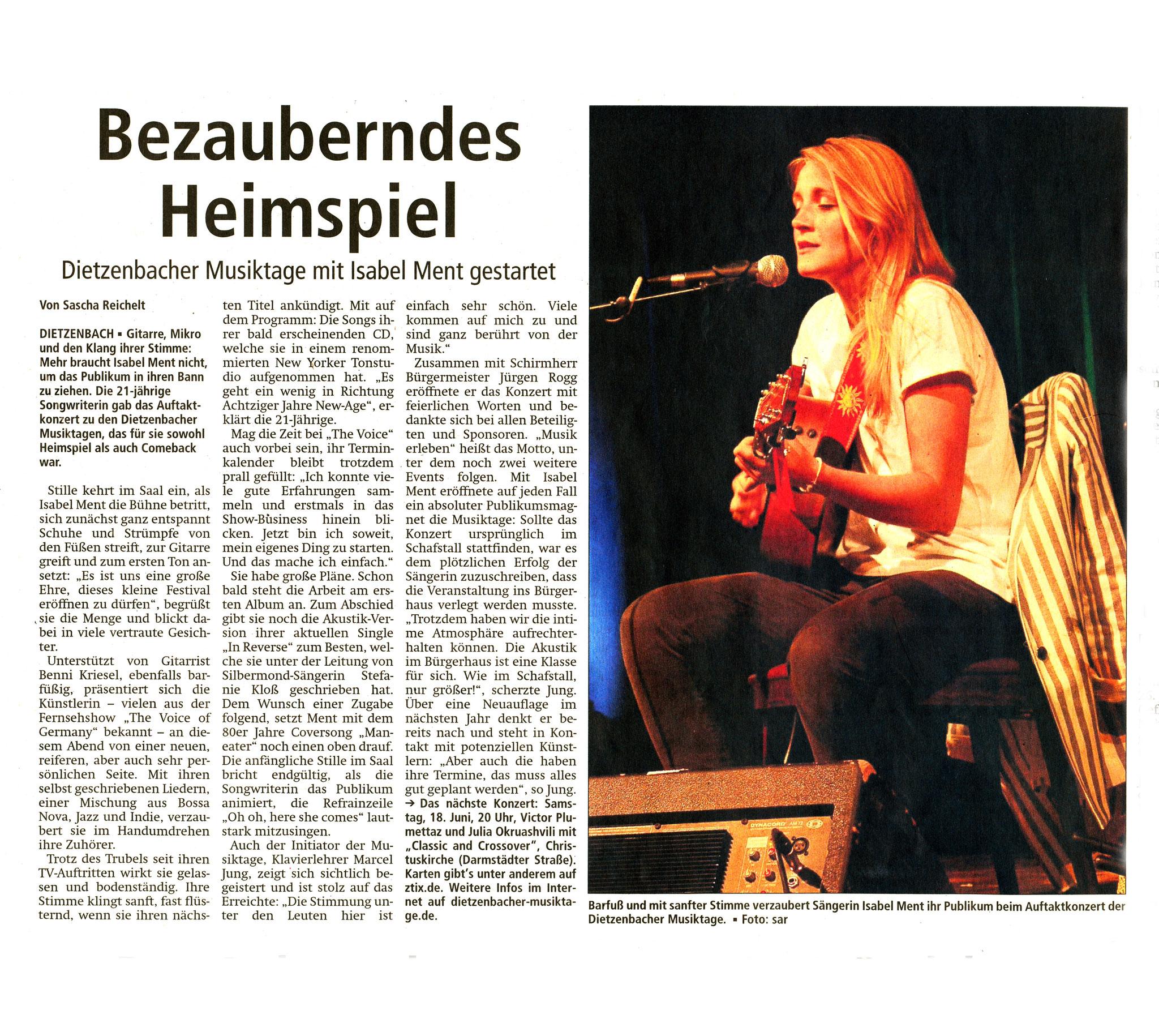 Offenbach Post, 13. Juni 2016