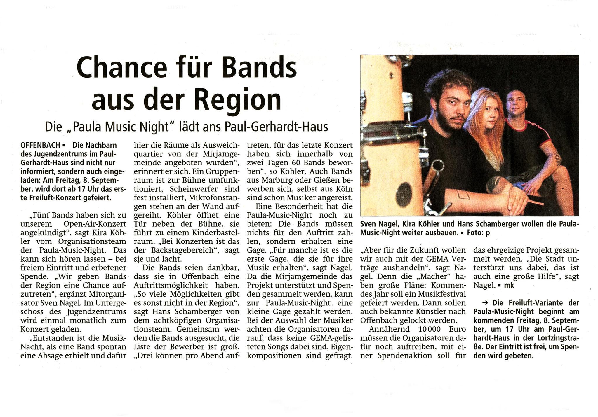 Offenbach Post, 4. September 2018
