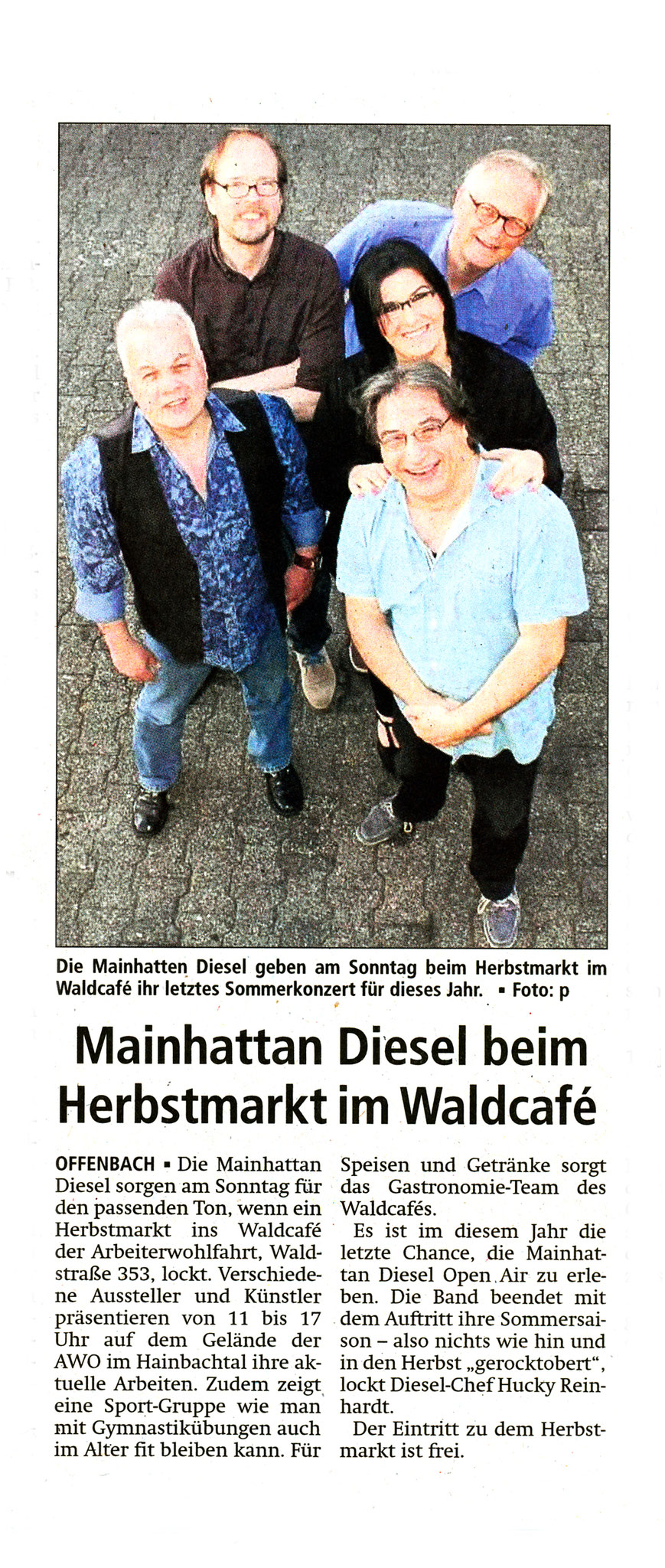 Offenbach Post, 30. September 2016