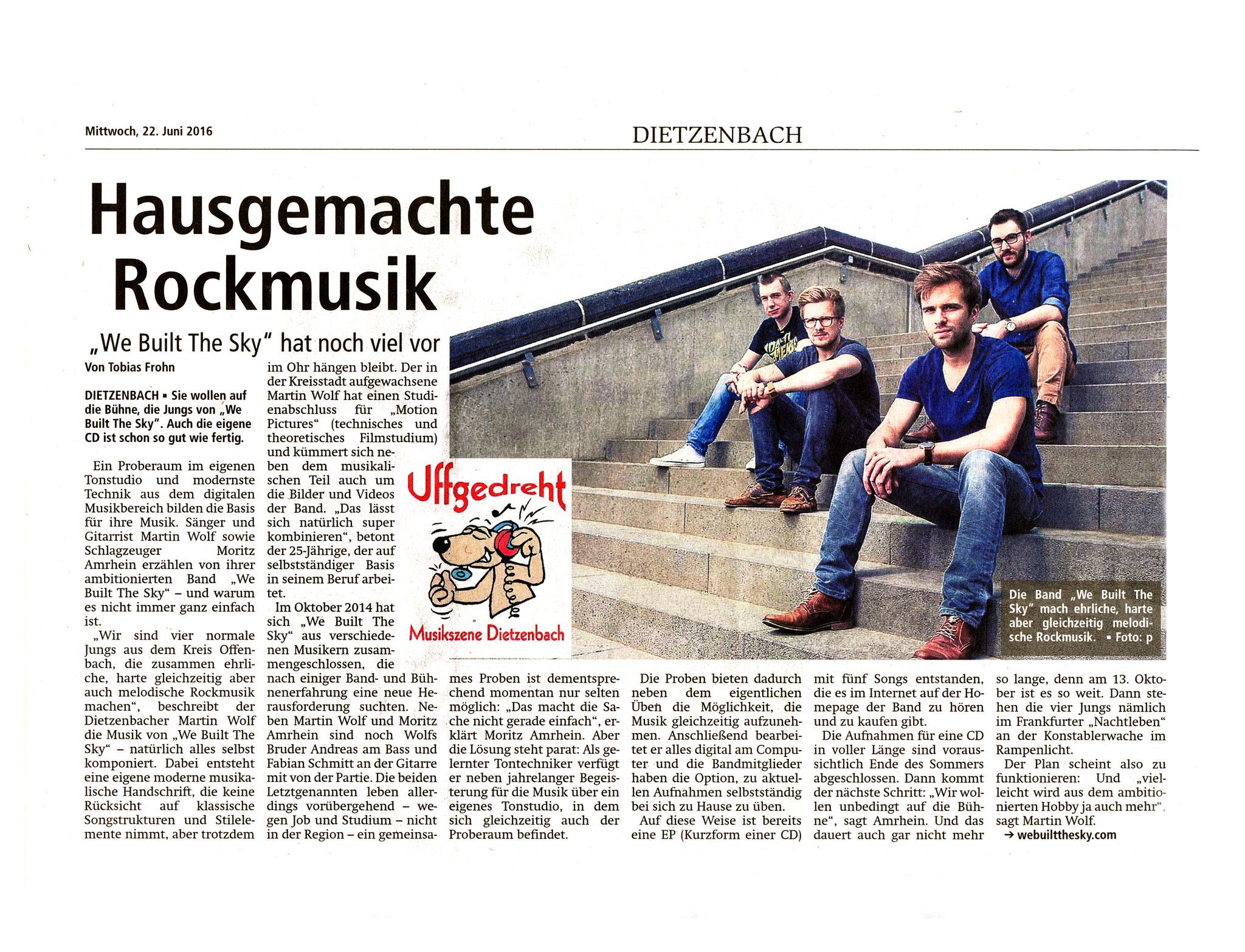 Offenbach Post, 22. Juni 2016