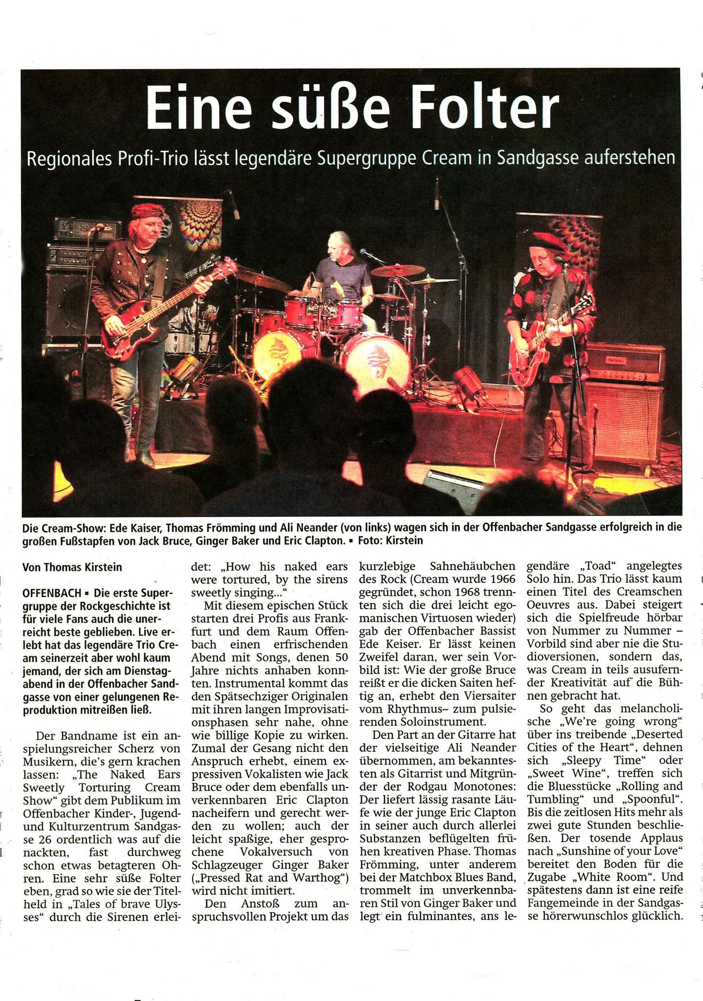 Offenbach Post, 25. Oktober 2018