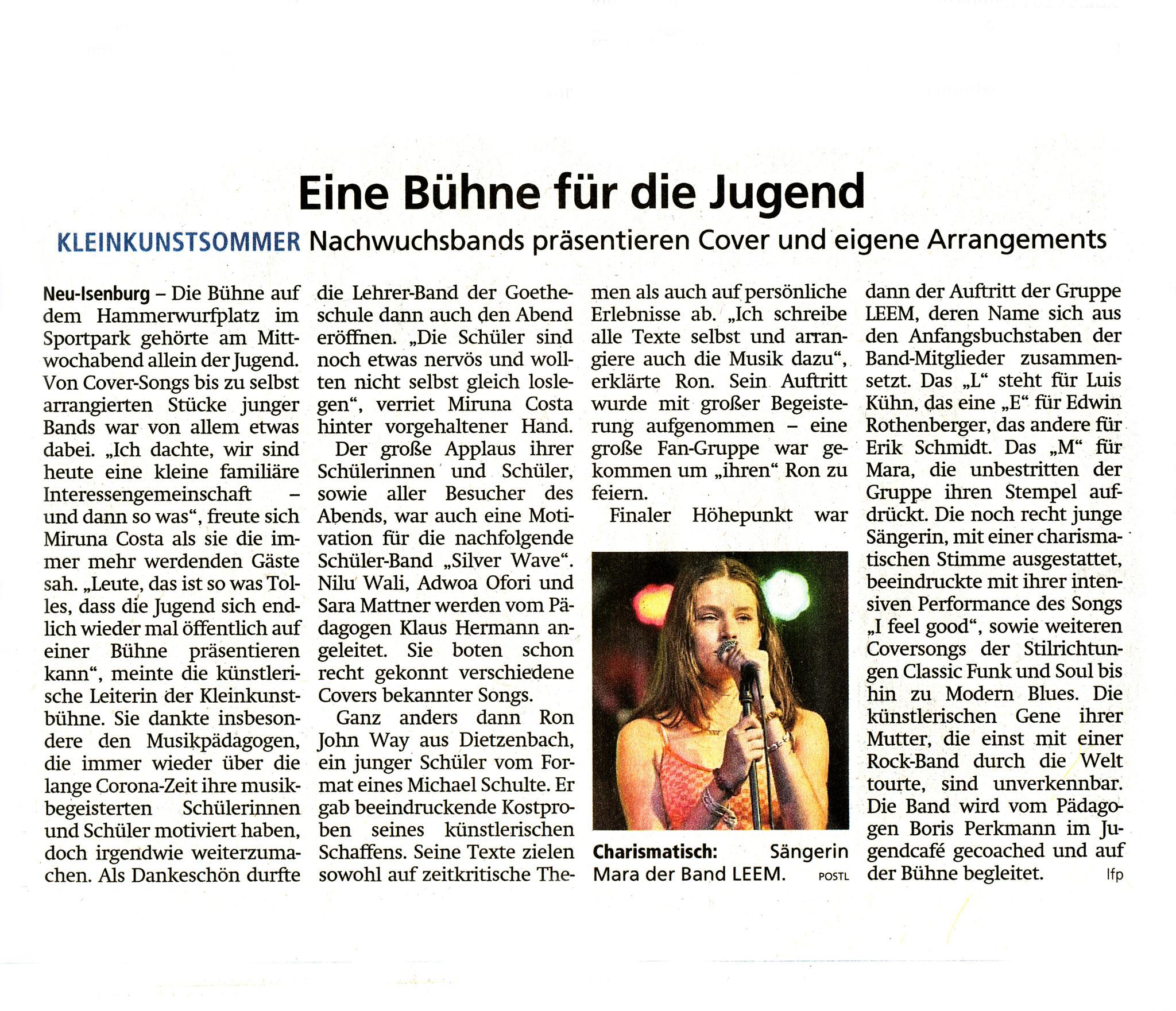 Offenbach Post, 24. September 2021