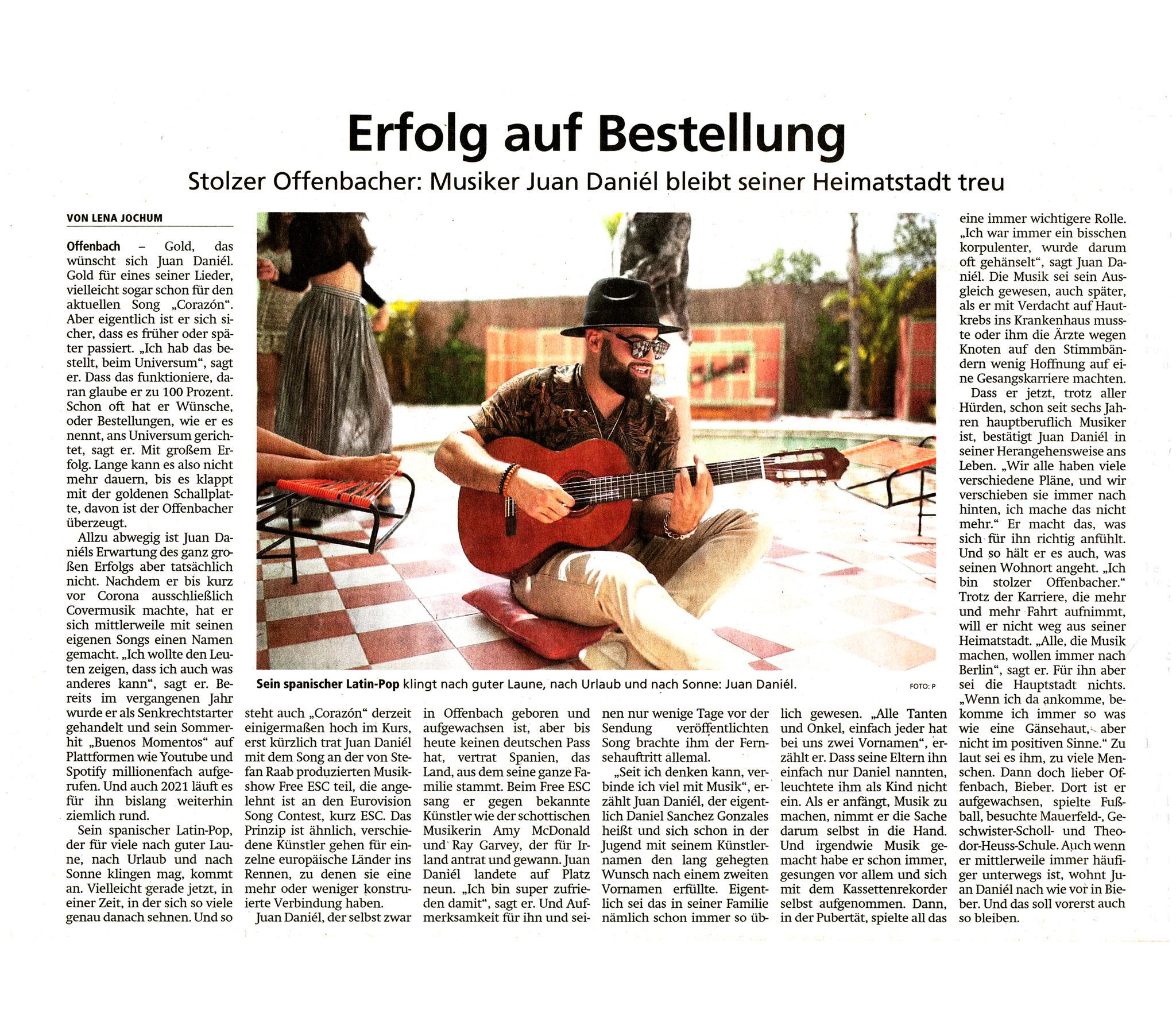 Offenbach Post, 28. Mai 2021