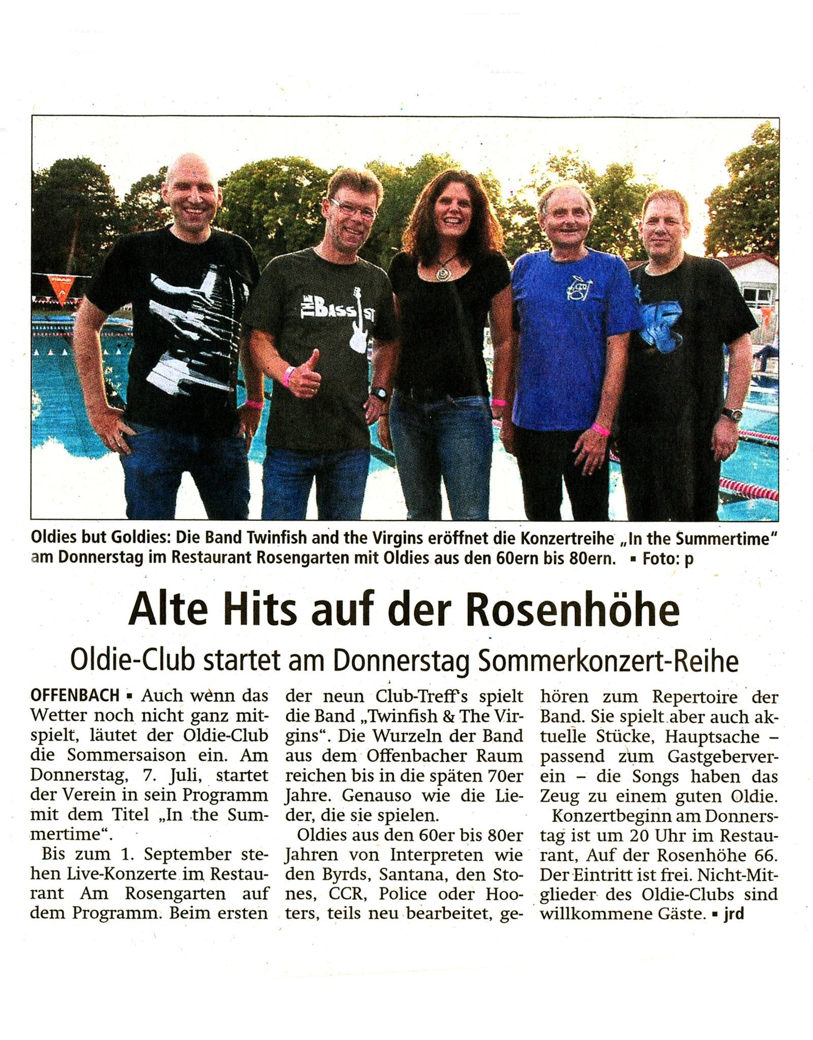 Offenbach Post, 5. Juli 2016
