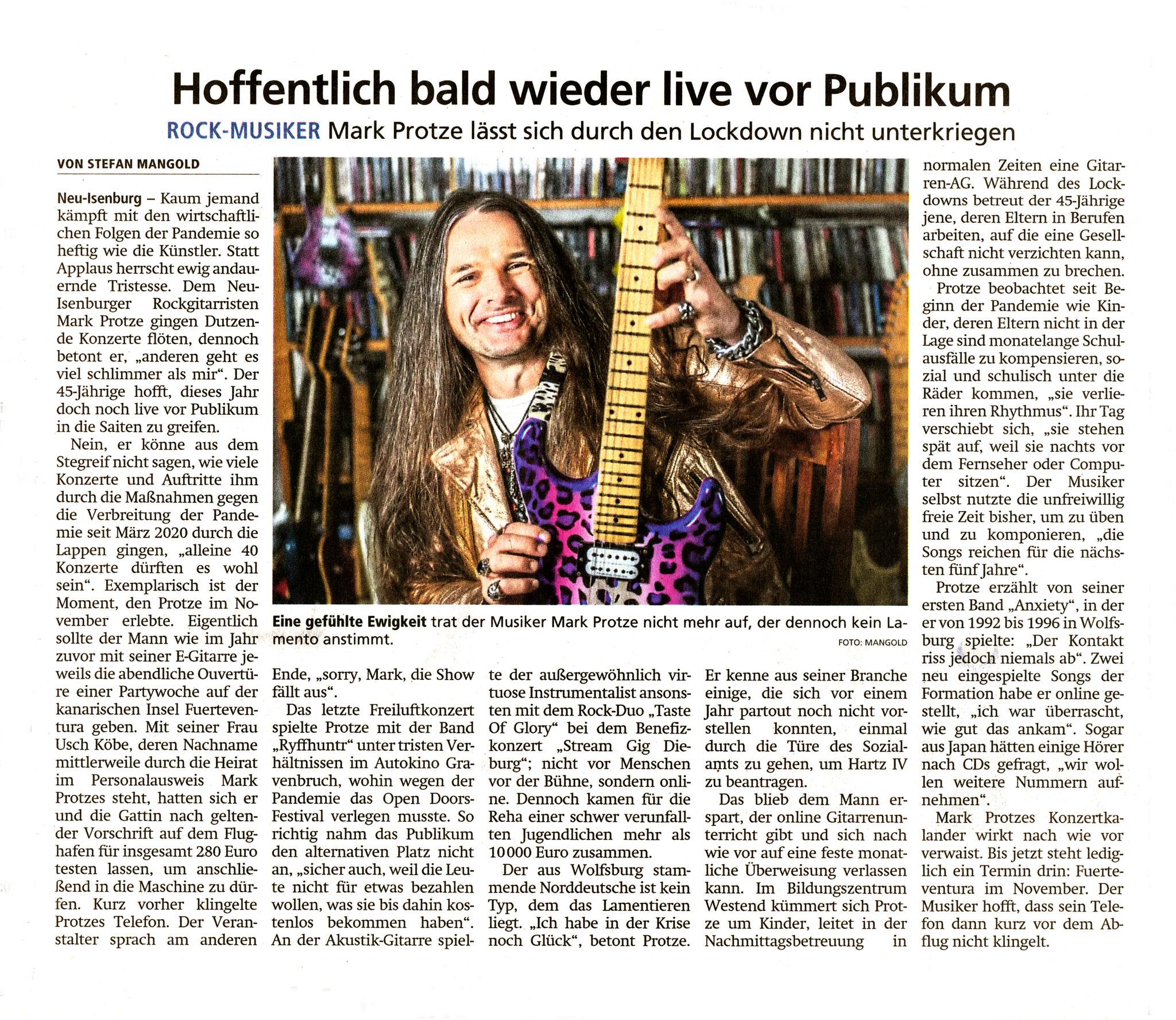 Artikel Offenbach Post, 21. Juni 2021