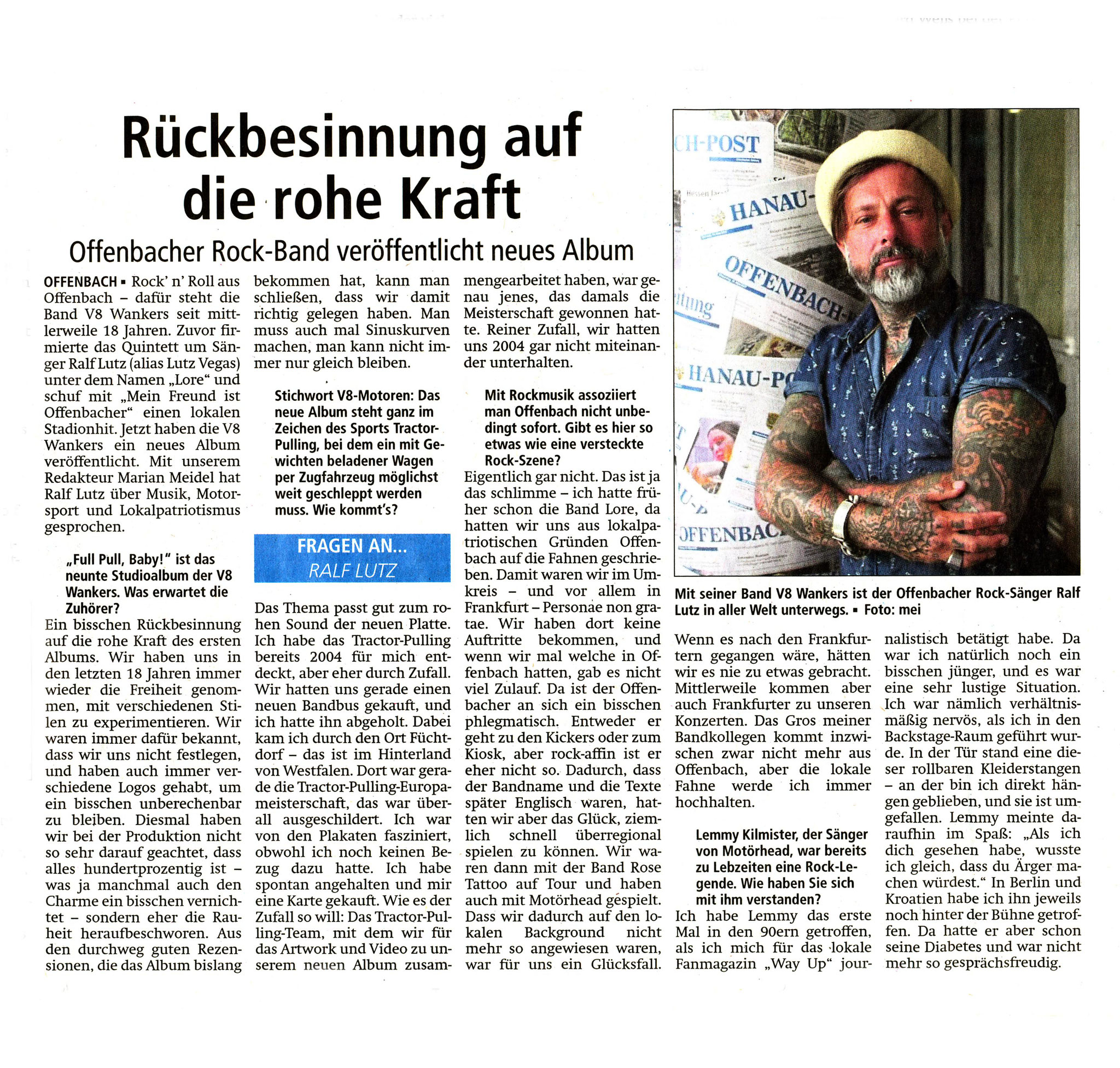 Offenbach Post, 26. Mai 2018