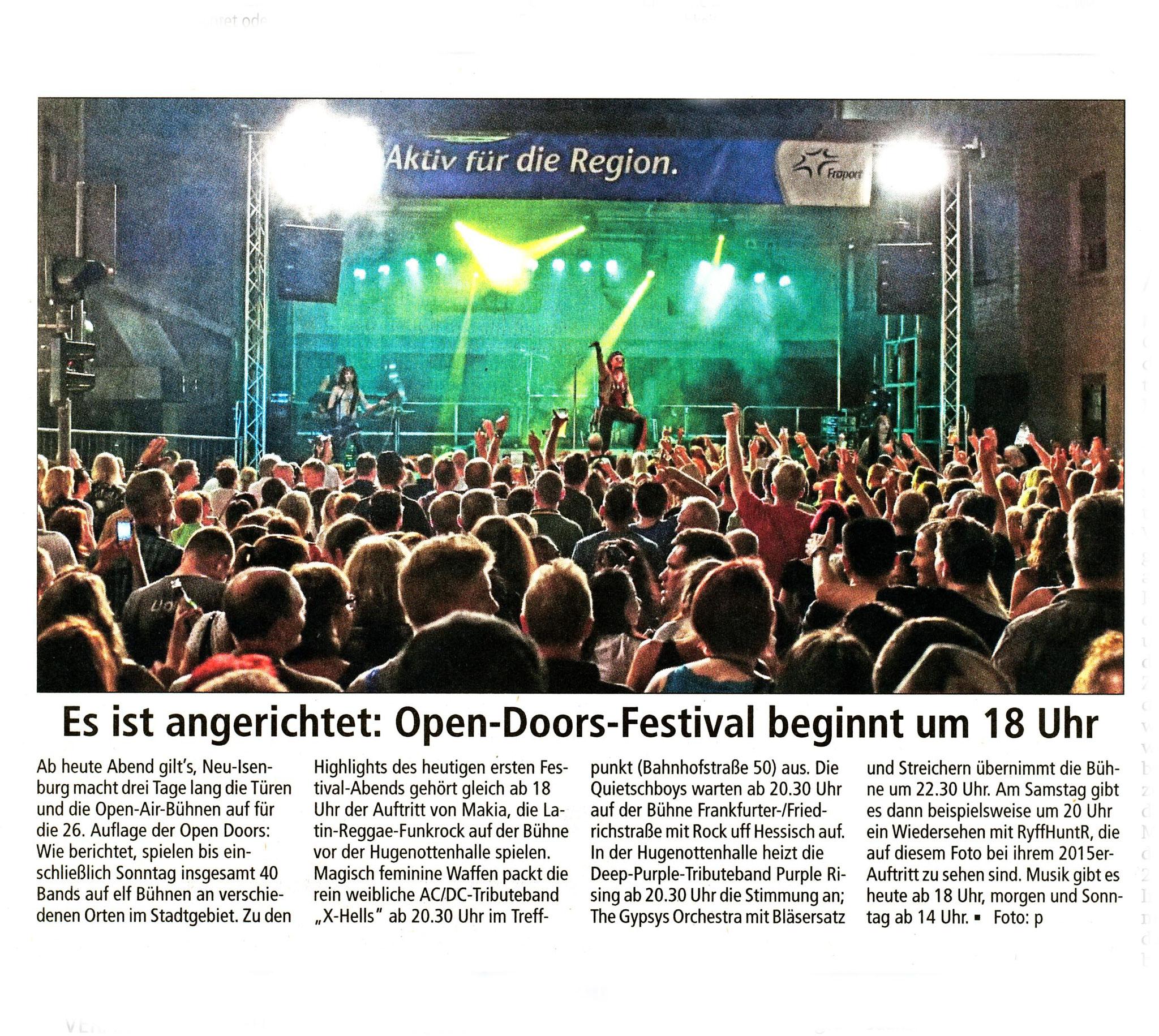 Offenbach Post, 20. Juli 2018