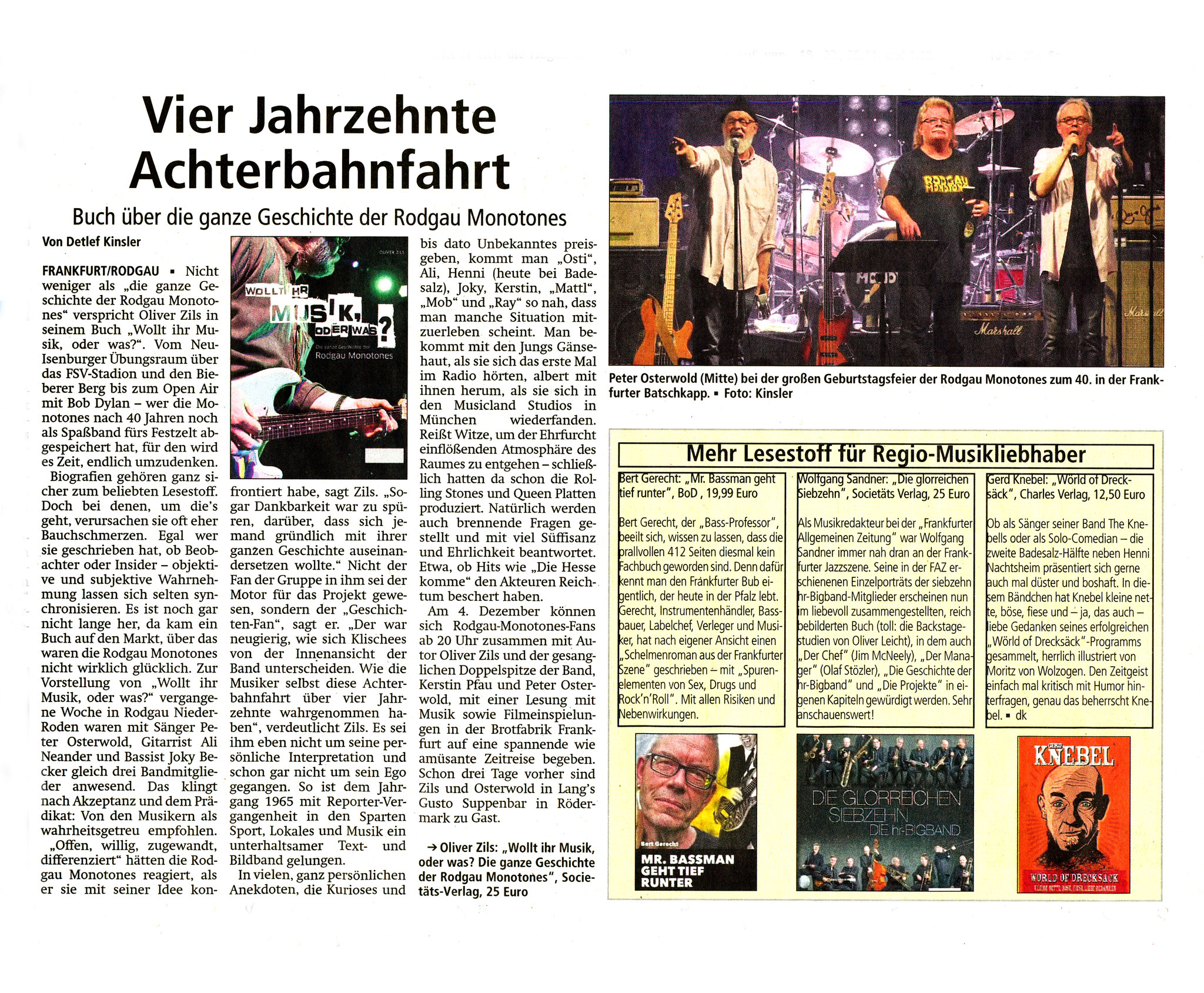 Offenbach Post, 30. Oktober 2018