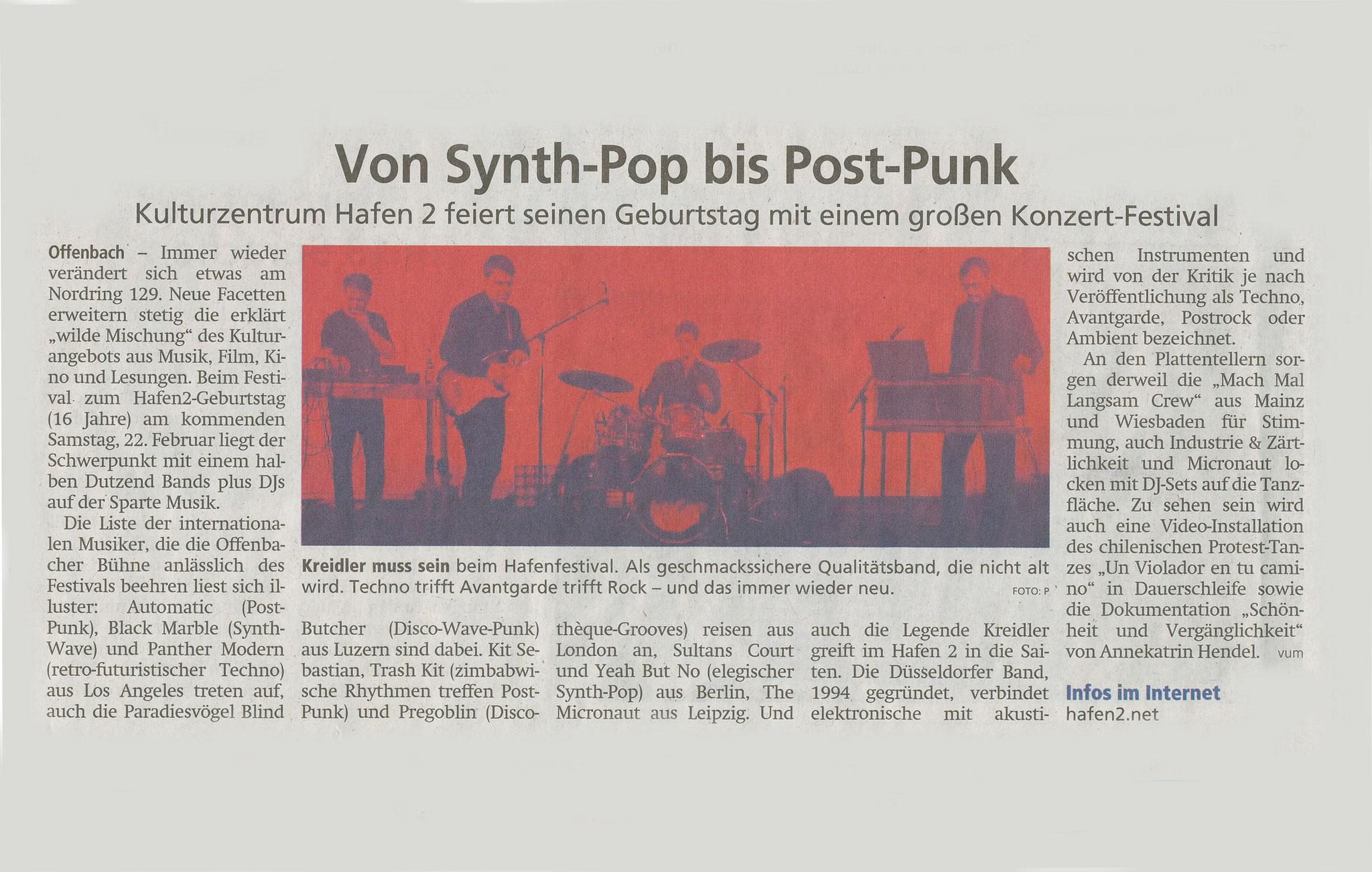 Offenbach Post, 18. Februar 2020