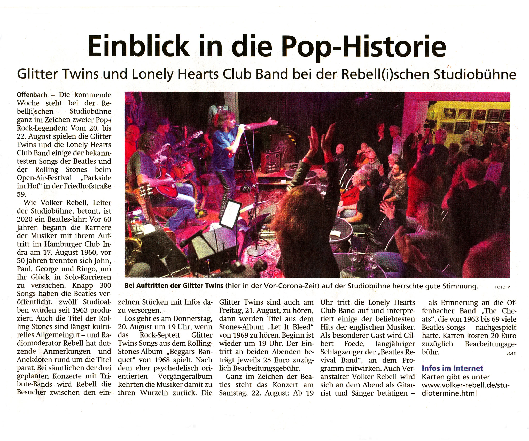 Offenbach Post, 11. August 2020