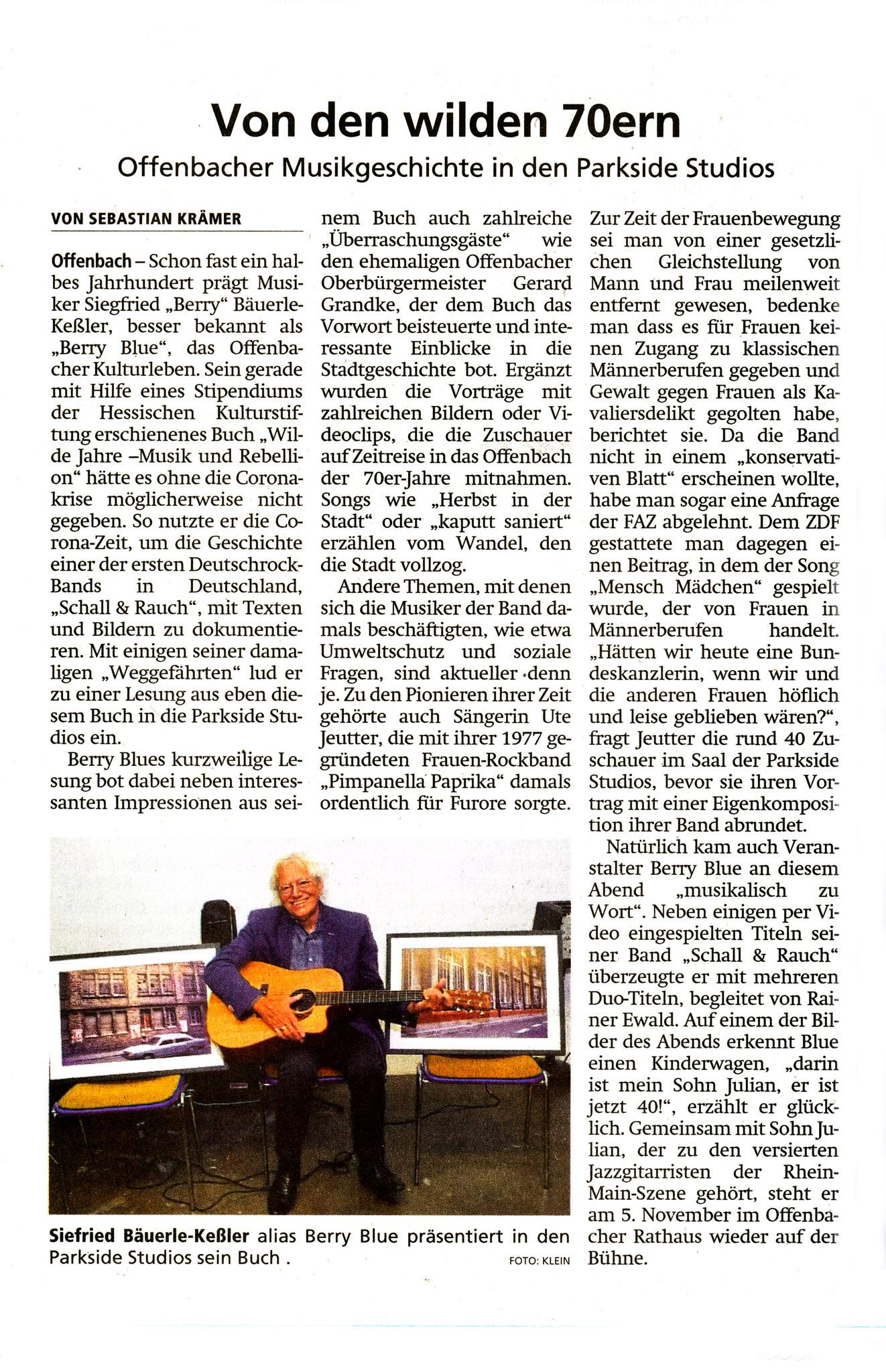 Artikel Offenbach Post, 28. September 2021