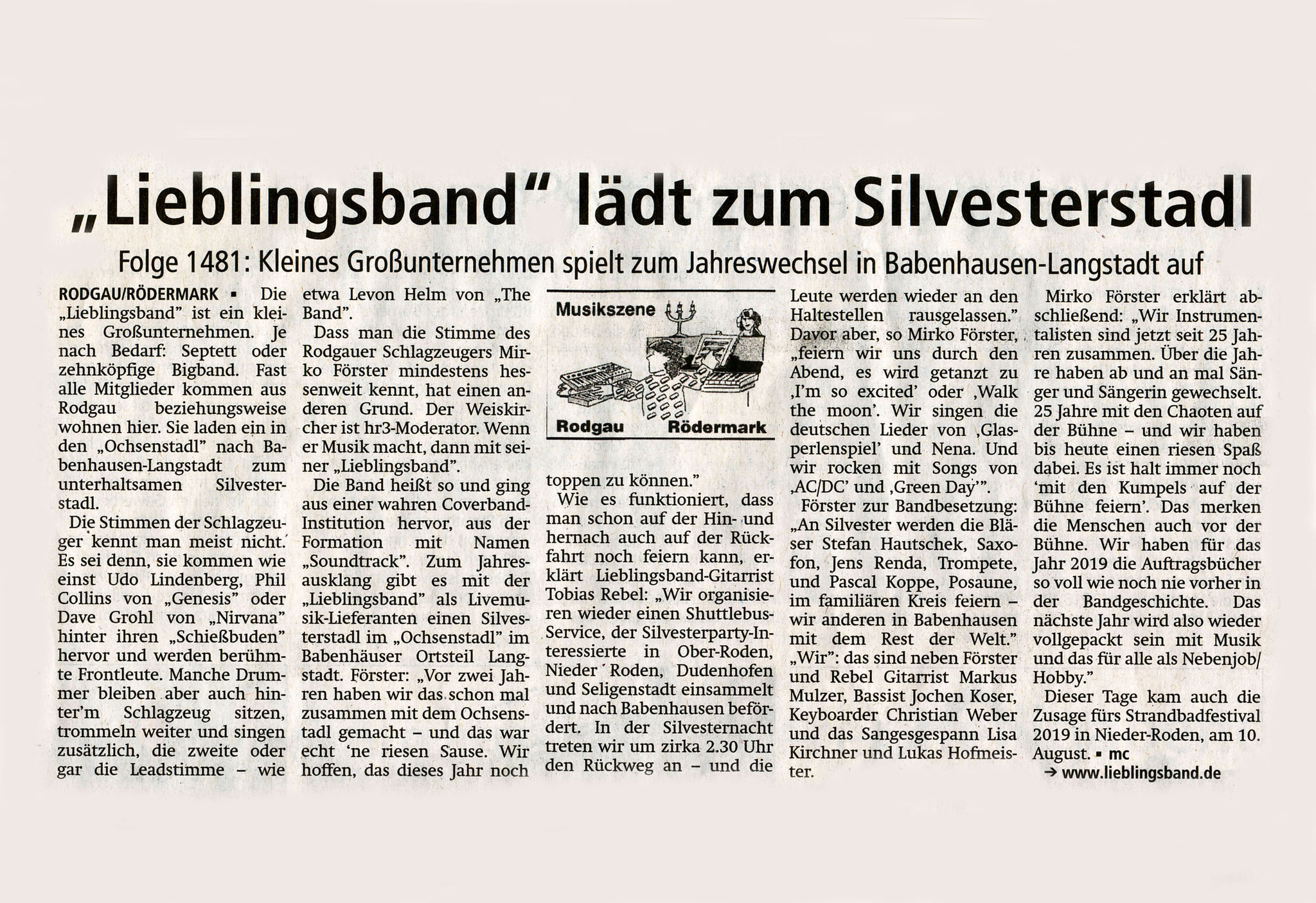 Offenbach Post, 27. Dezember 2018