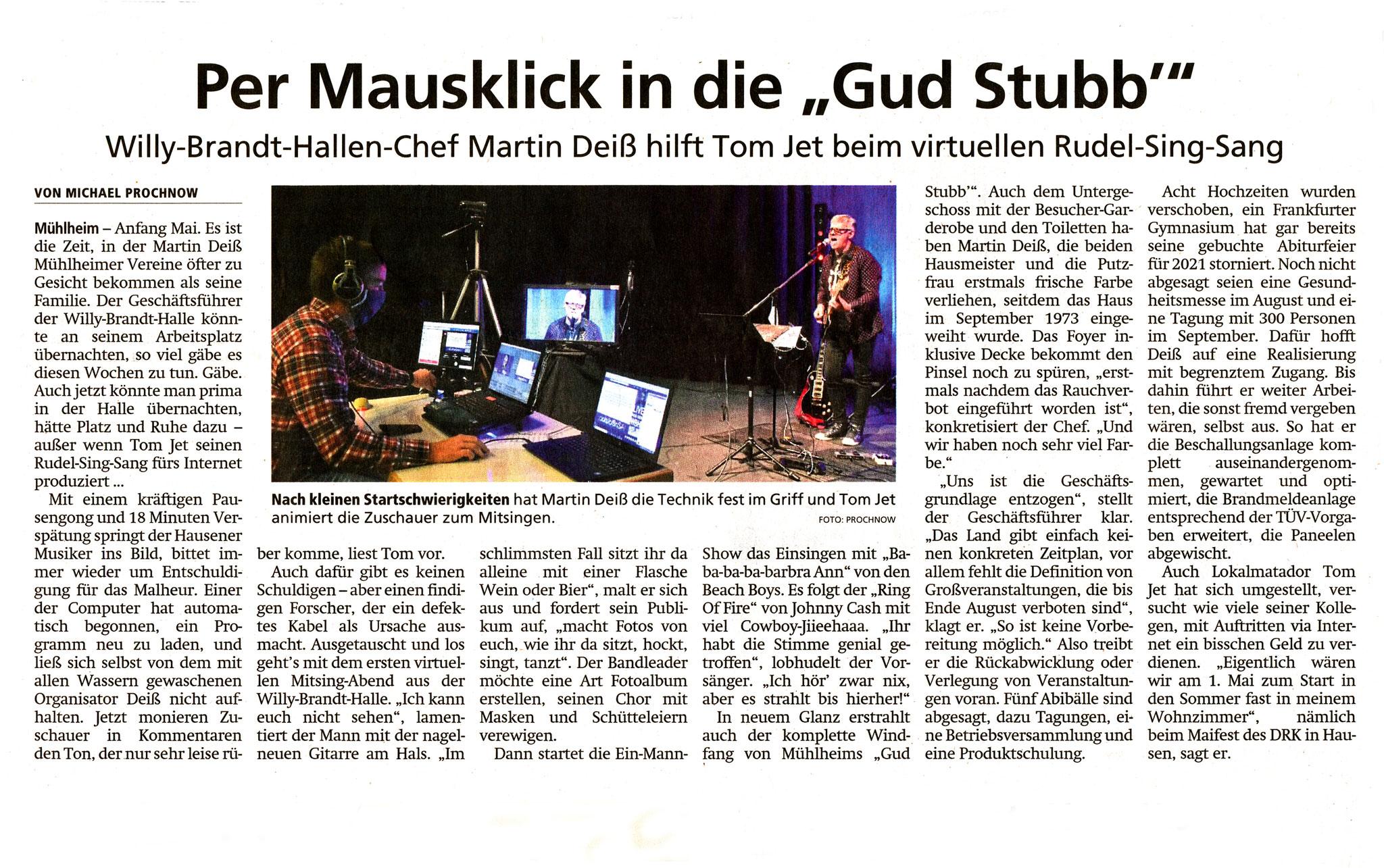 Offenbach Post, 4. Mai 2020
