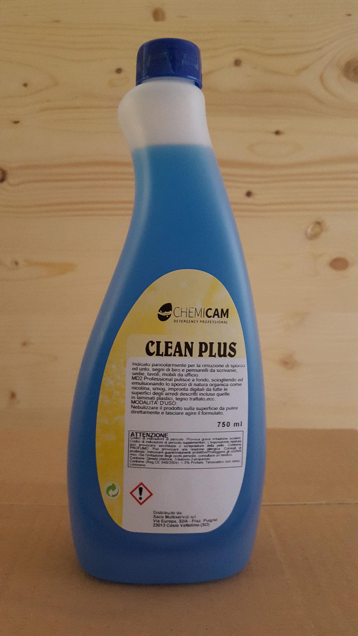 CLEAN PLUS - Detergente per pulizia di sporchi grassi e sintetici