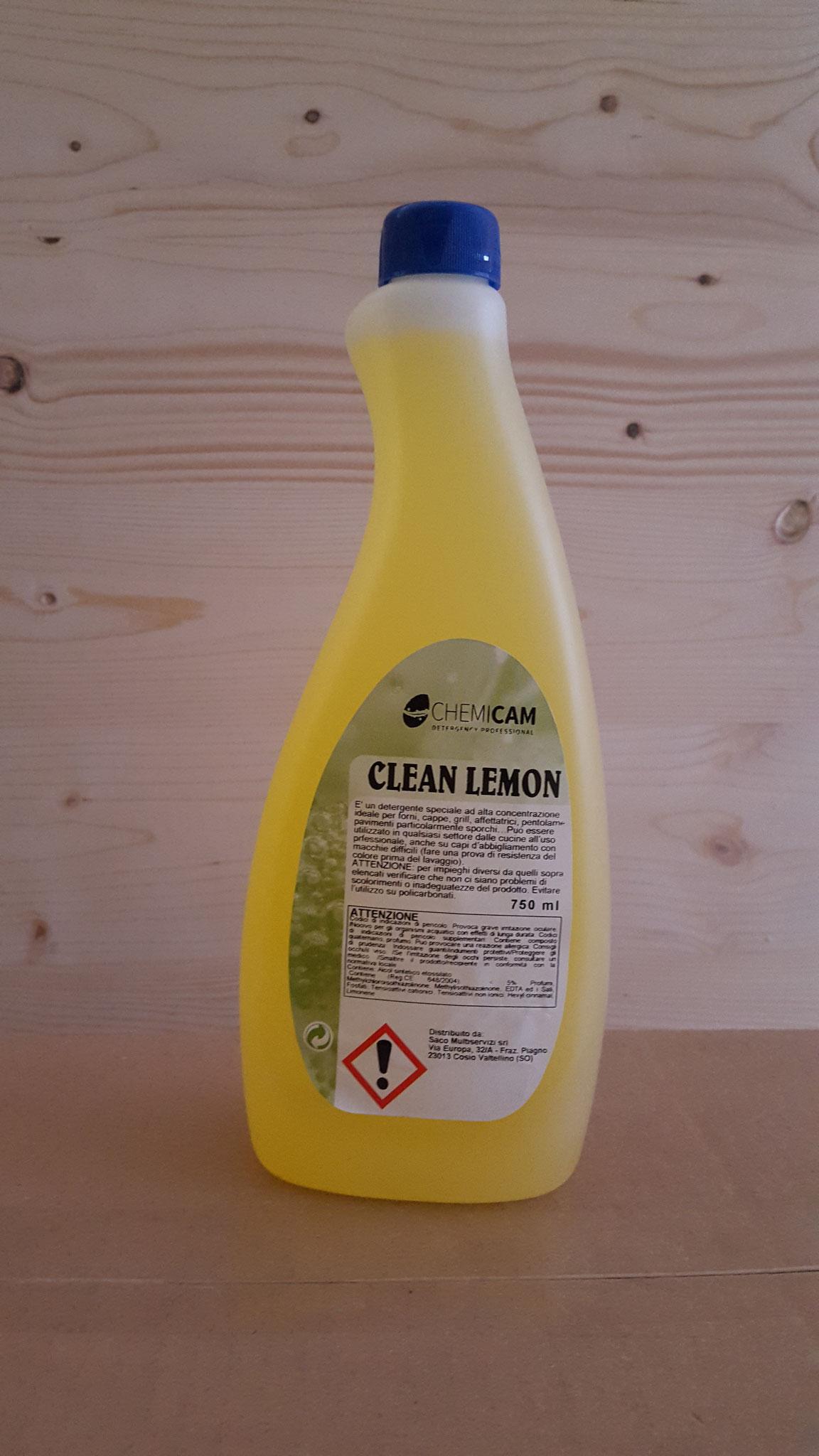CLEAN LEMON - Detergente concentrato per tutte le superfici