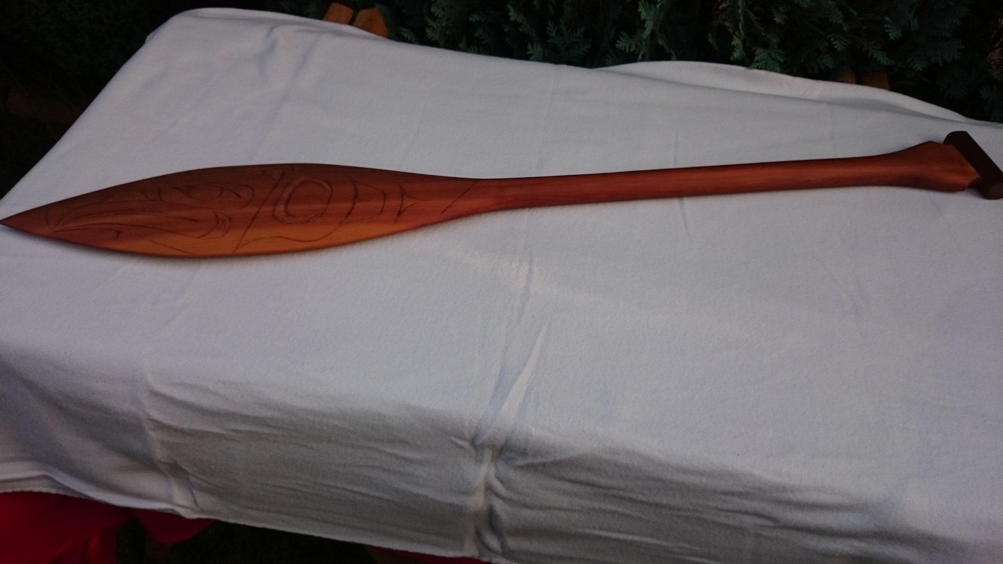 Paddel; Motiv: Adler; western red cedar