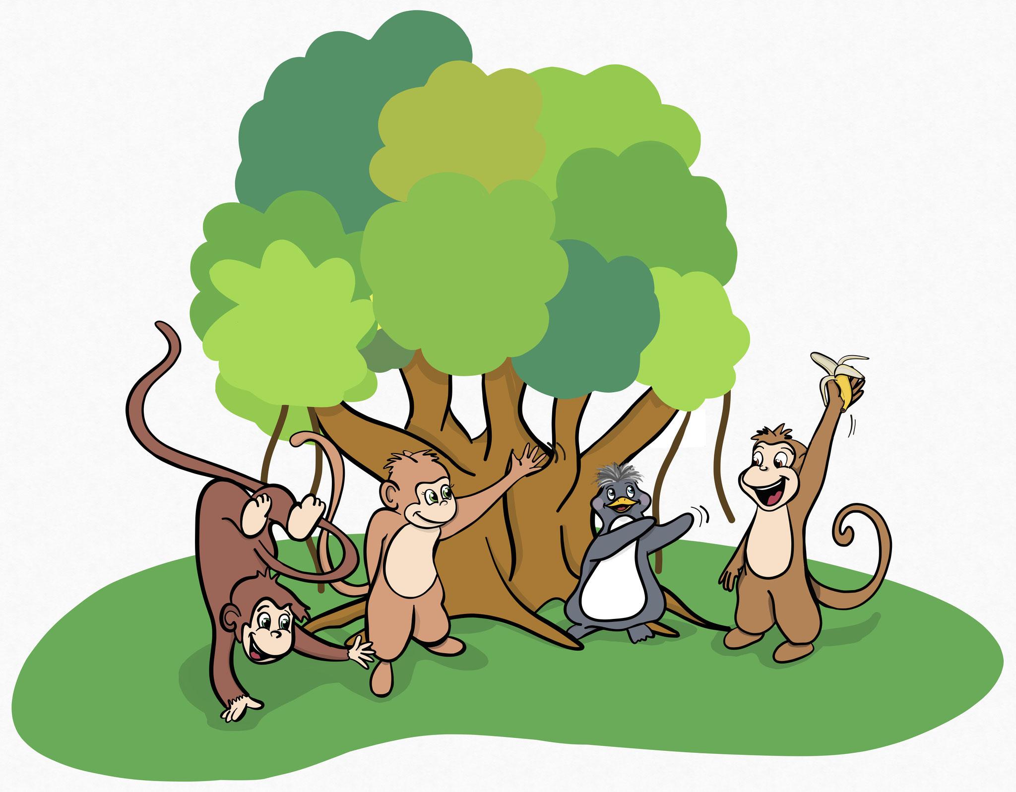 Affengeschwister Kido, Kada und Kodo