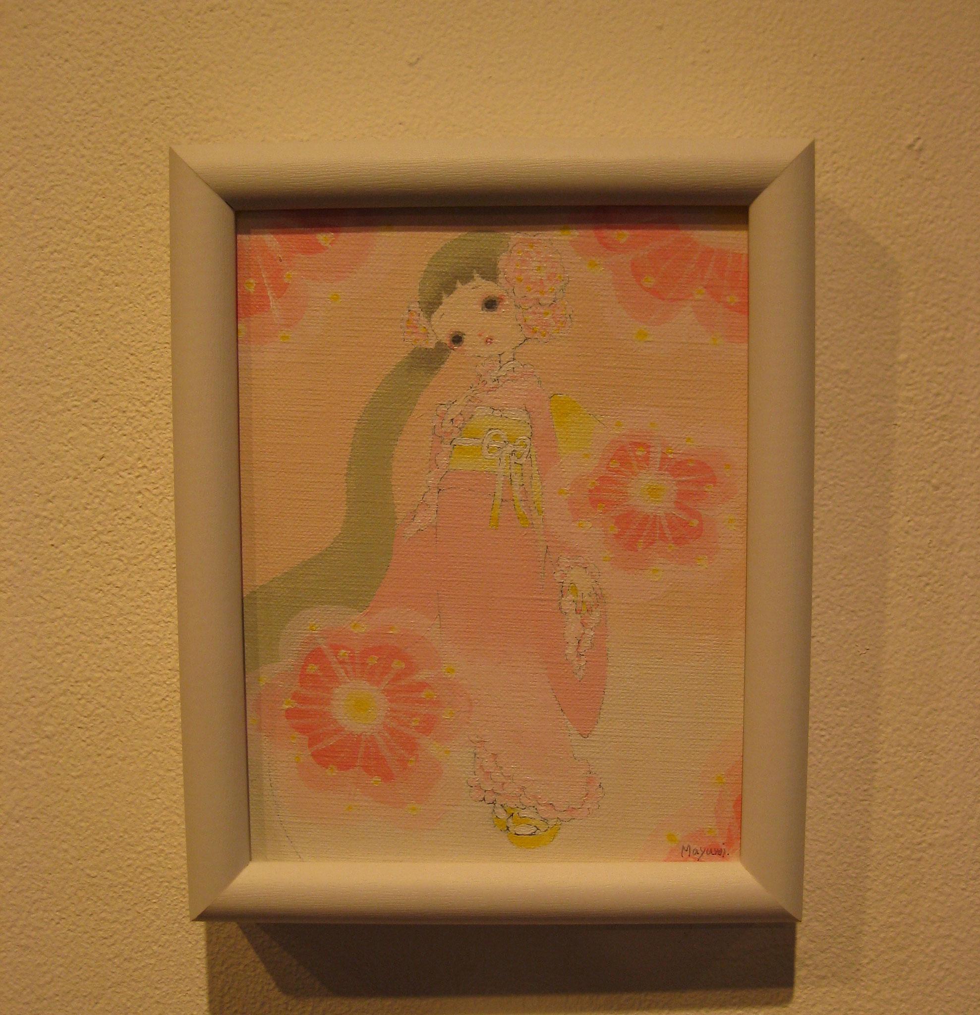 「桃の花」花の化身の少女。