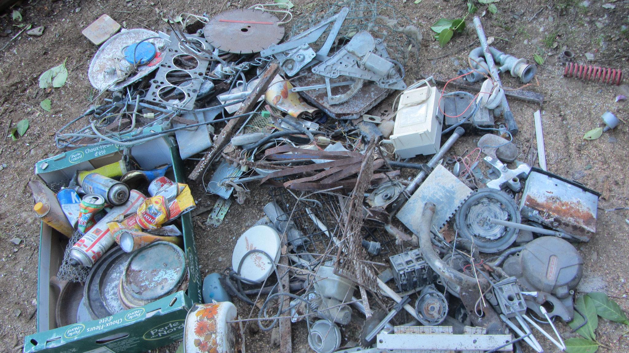 Les déchets non archéologiques