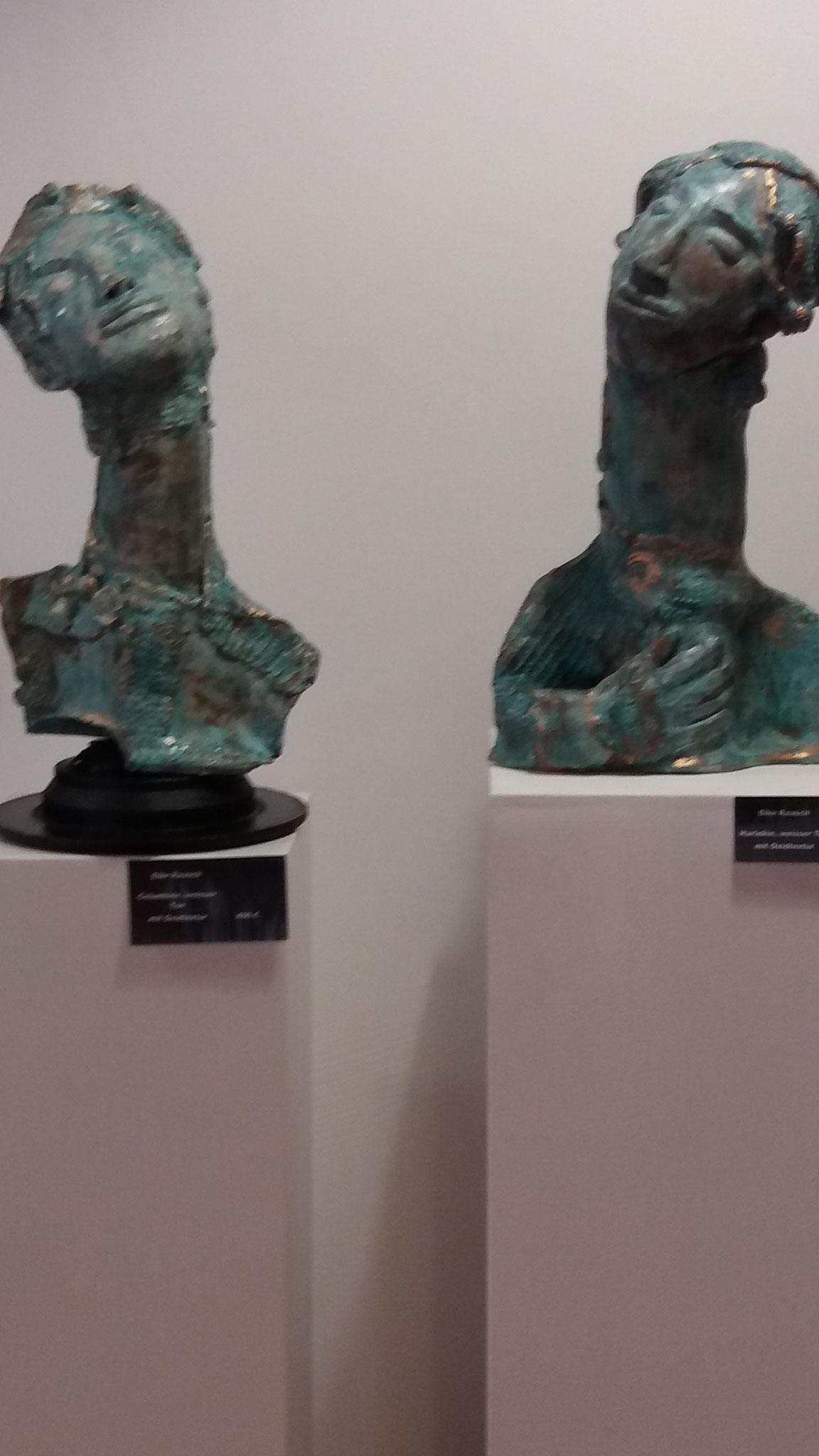 Harlekin und Columbine in der Ausstellung