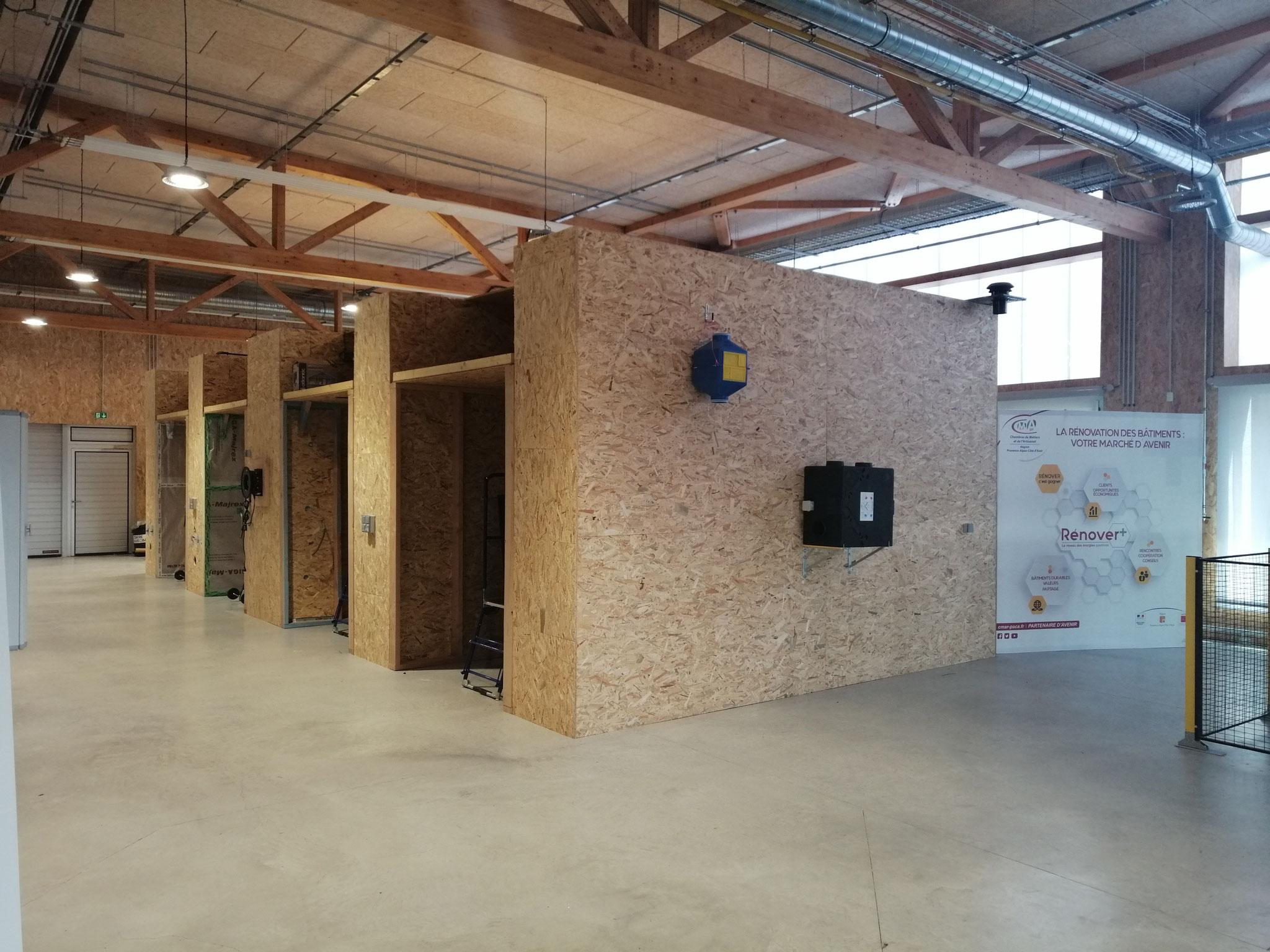 Février 2019 - Formation FEEBAT PAROIS OPAQUES sur le plateau technique Praxibat® de l'Eco-Campus Provence (04) - En partenariat avec la CMA PACA