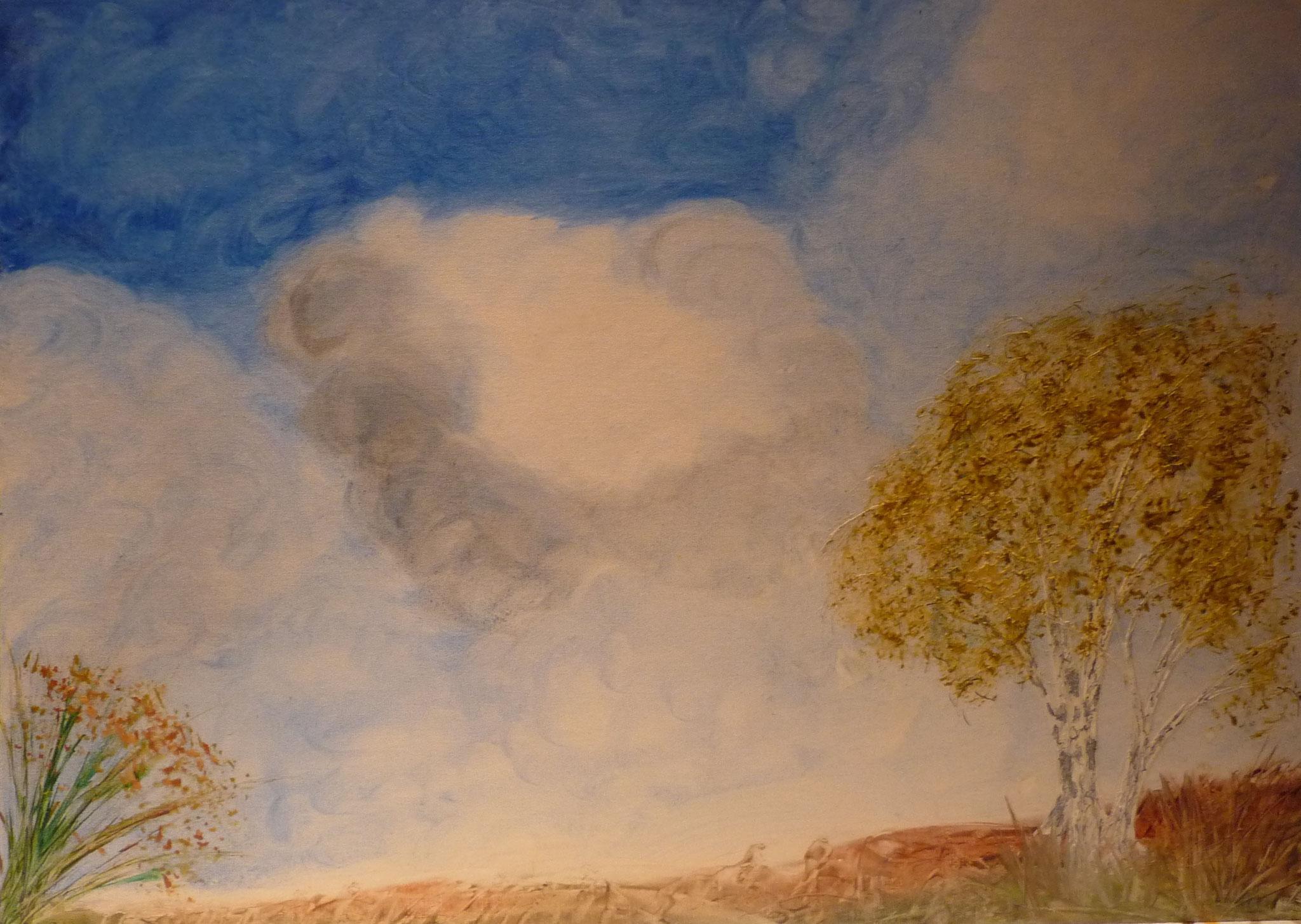 Nr. 28 - Wolkenlandschaft 70x50cm - 500 €