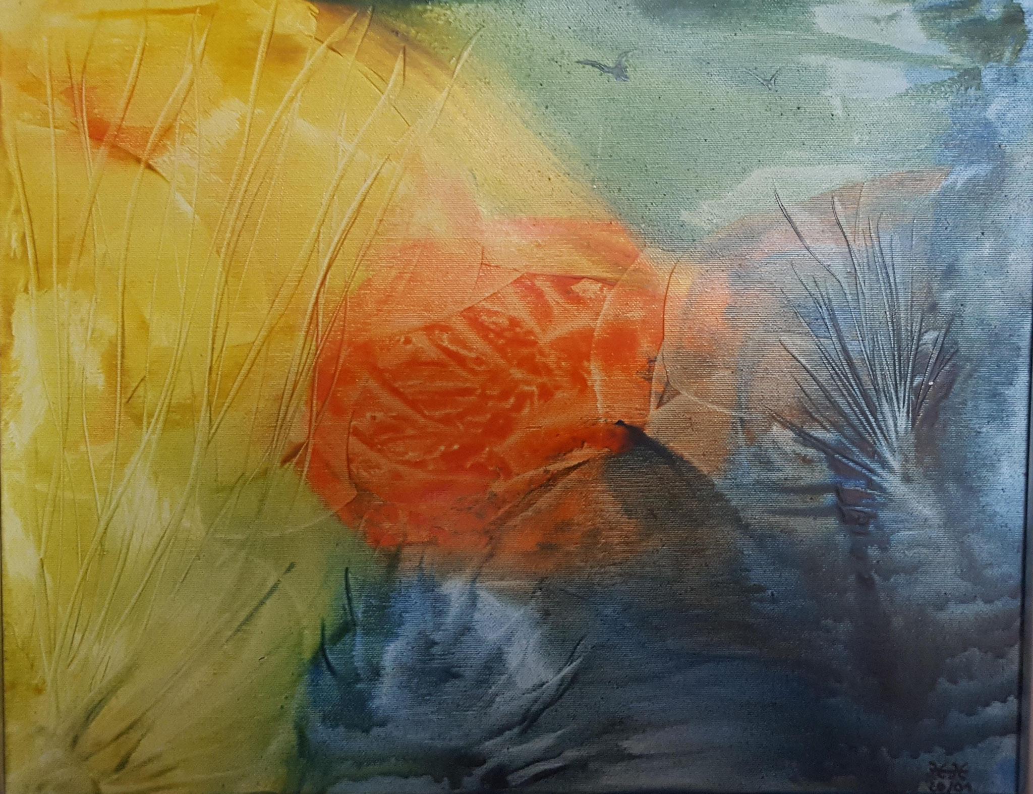 Nr. 21 - Komposition 50x40cm - 300 €