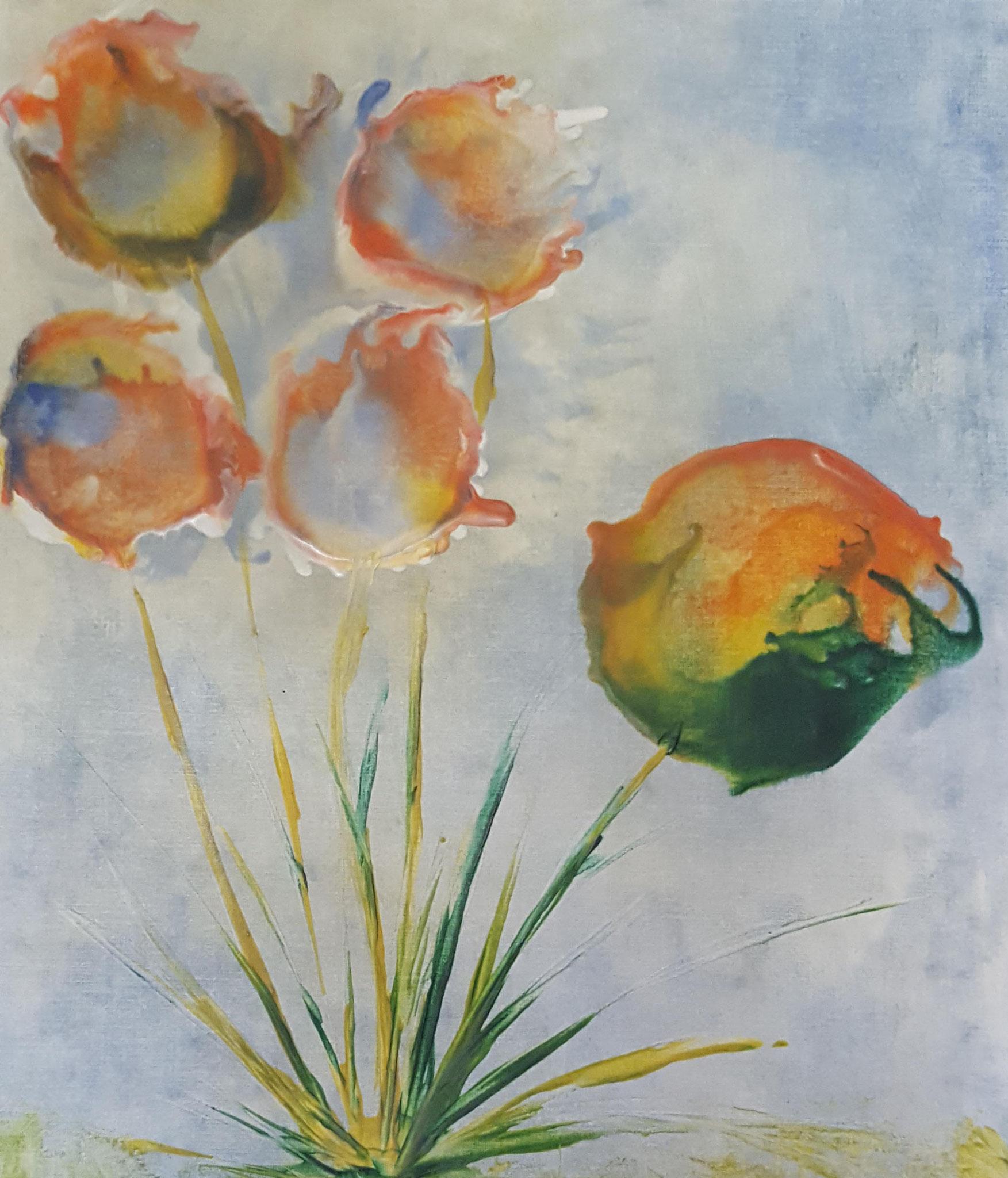 Nr. 22 - Gauklerblumen 40x50cm - 400 €