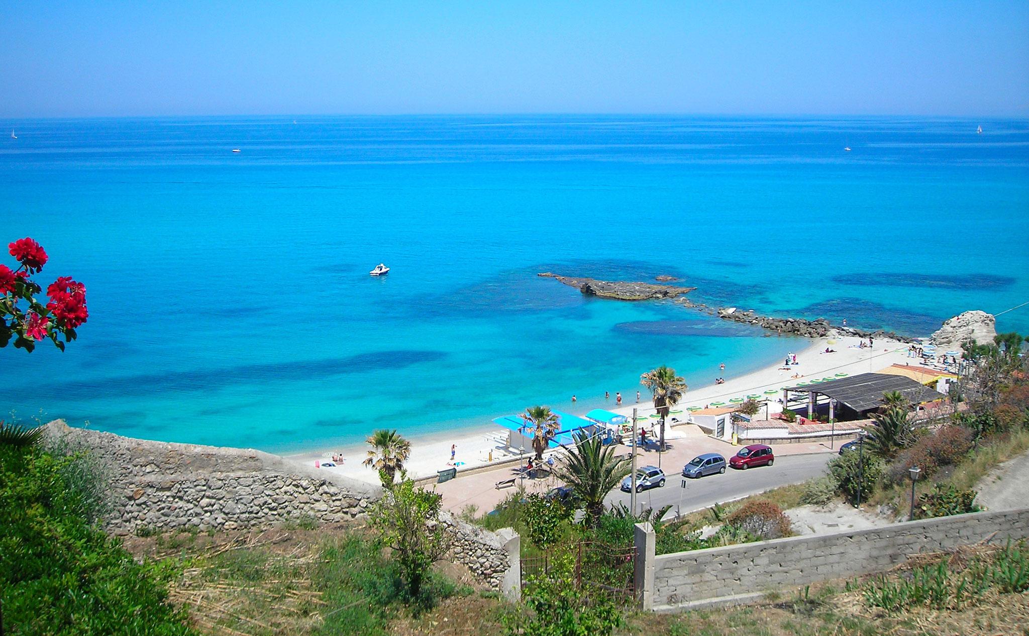 Badebucht Tropea © Ferienwohnung Spilinga | Tropea | Kalabrien - Casa Belle Vacanze