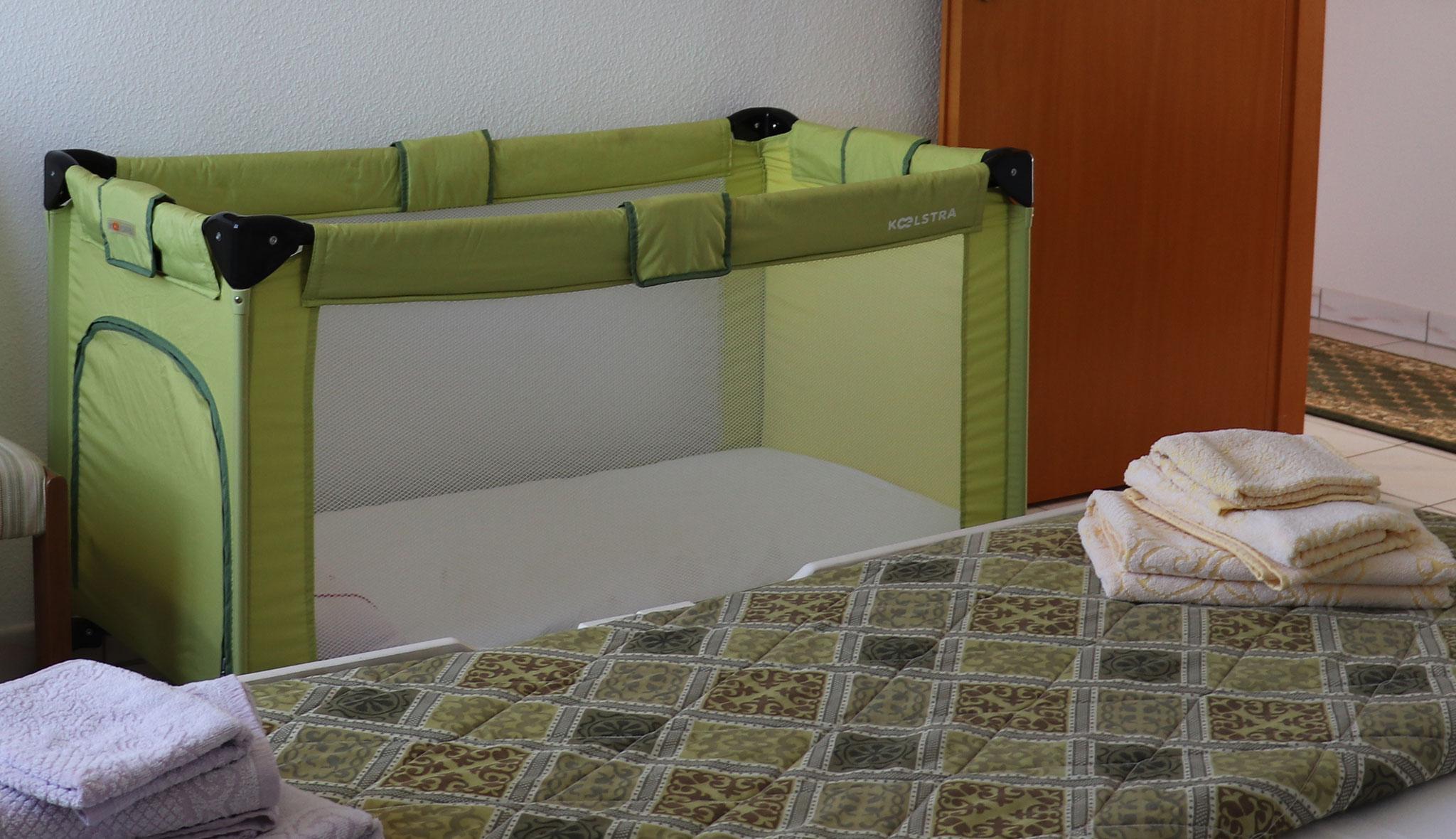 Babybett auf Wunsch zustellbar © Ferienwohnung Spilinga | Tropea | Kalabrien - Casa Belle Vacanze