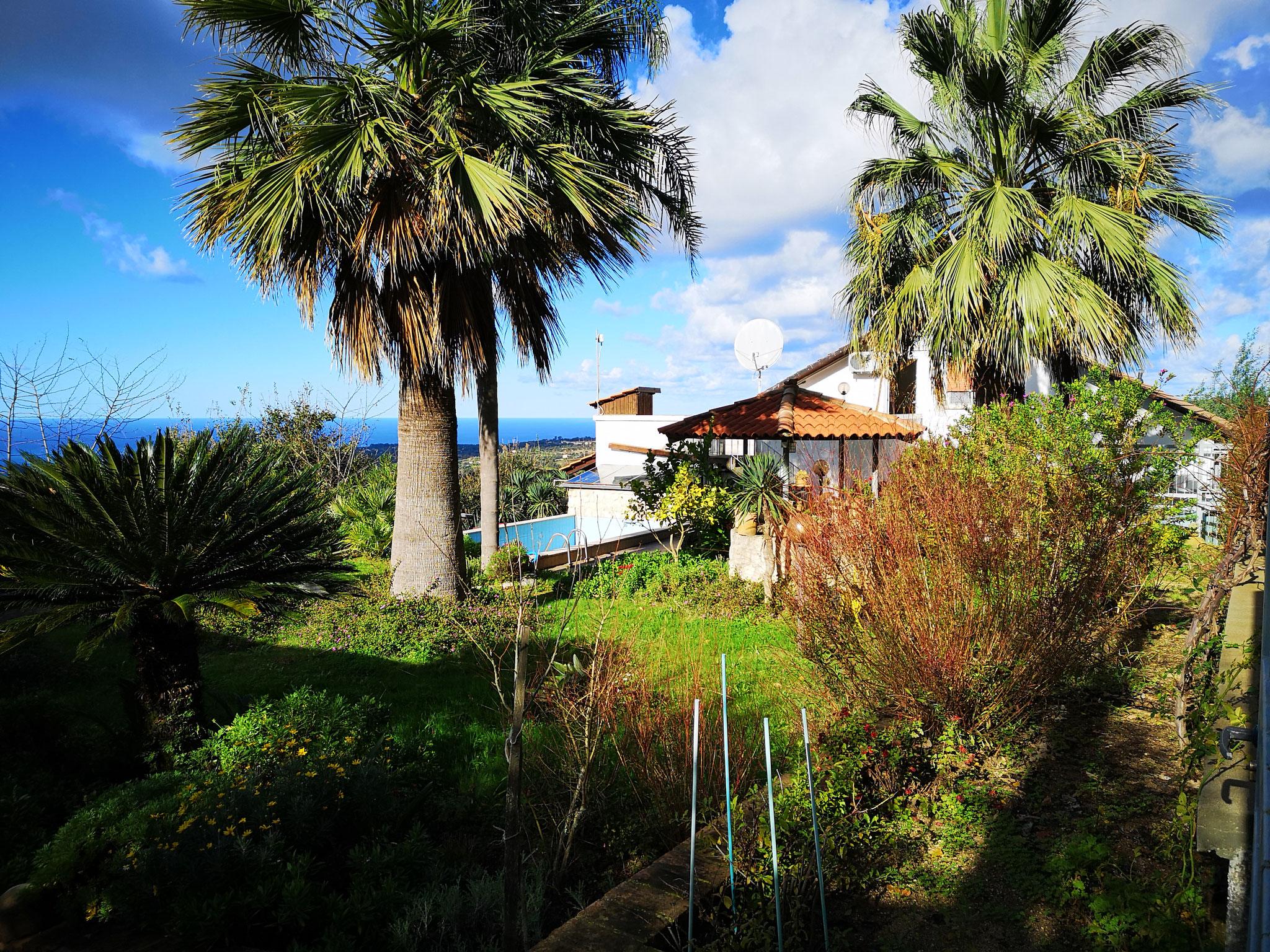 Panoramasicht Haus © Ferienwohnung Spilinga | Tropea | Kalabrien - Casa Belle Vacanze