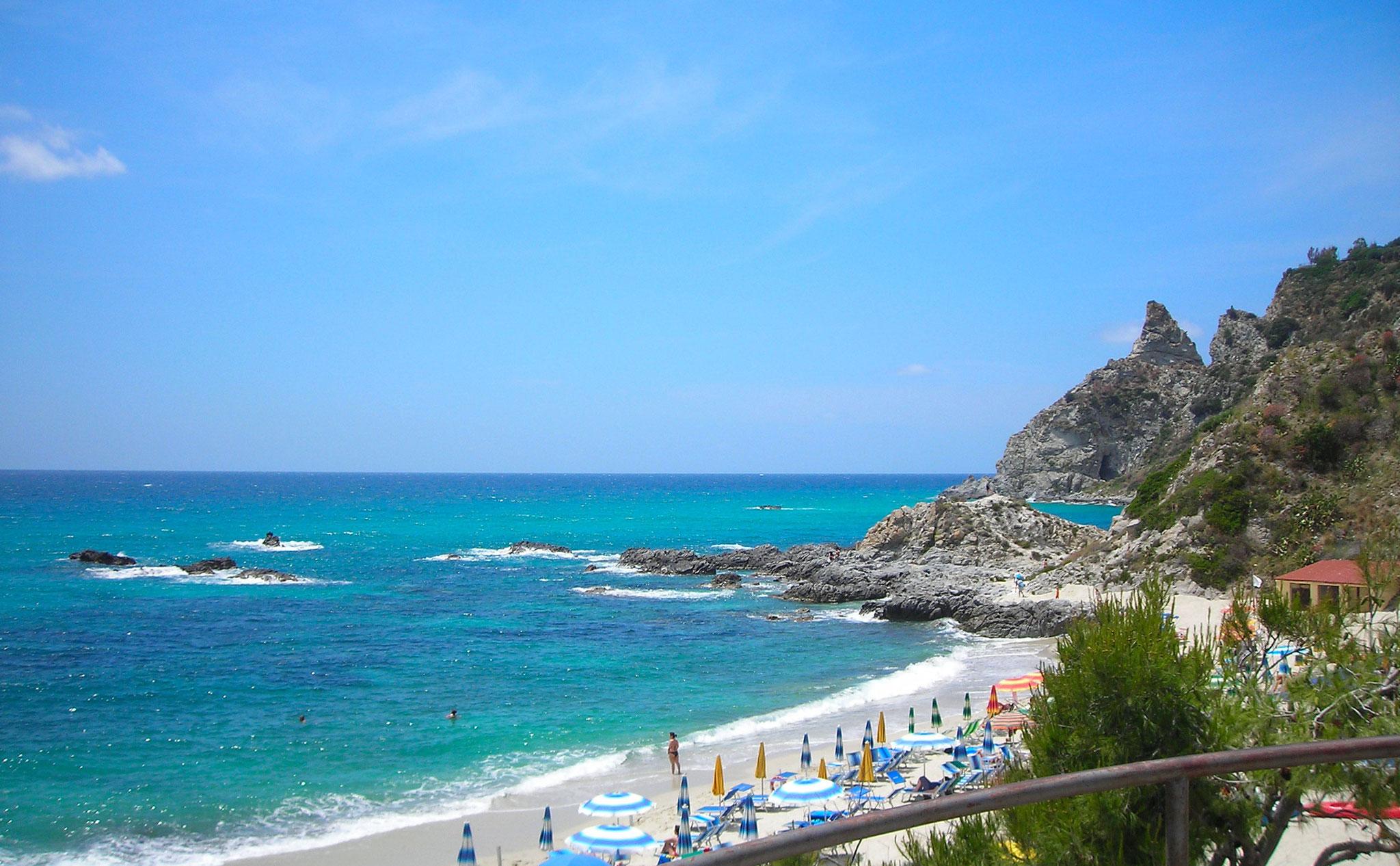 Bucht und Badestrand Tropea © Ferienwohnung Spilinga | Tropea | Kalabrien - Casa Belle Vacanze
