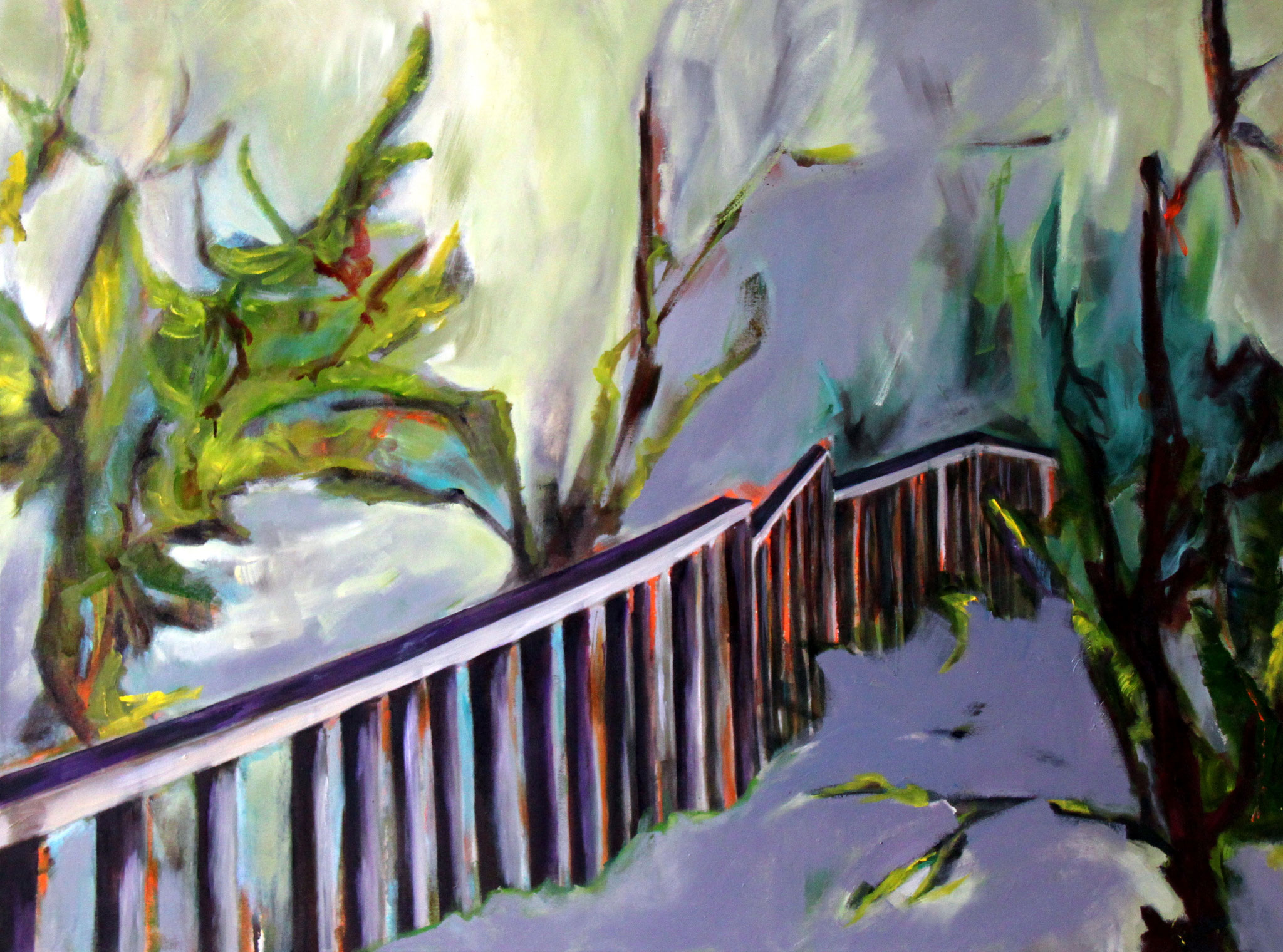 lost garden, 2010, 120 x 160 cm, Öl und Acryl a.L.