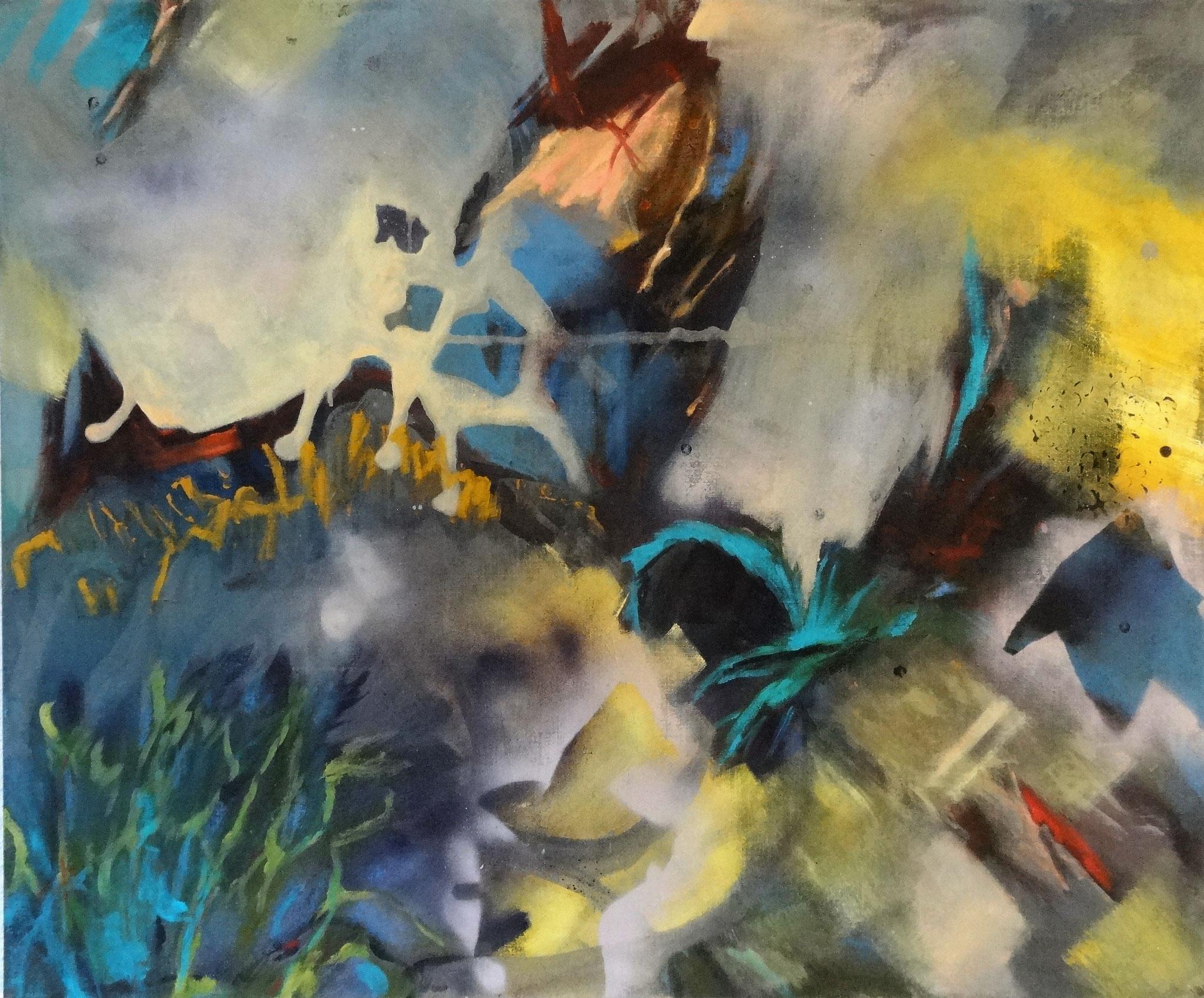 o.T, 2020, 100 x 120 cm, Acryl auf Nessel