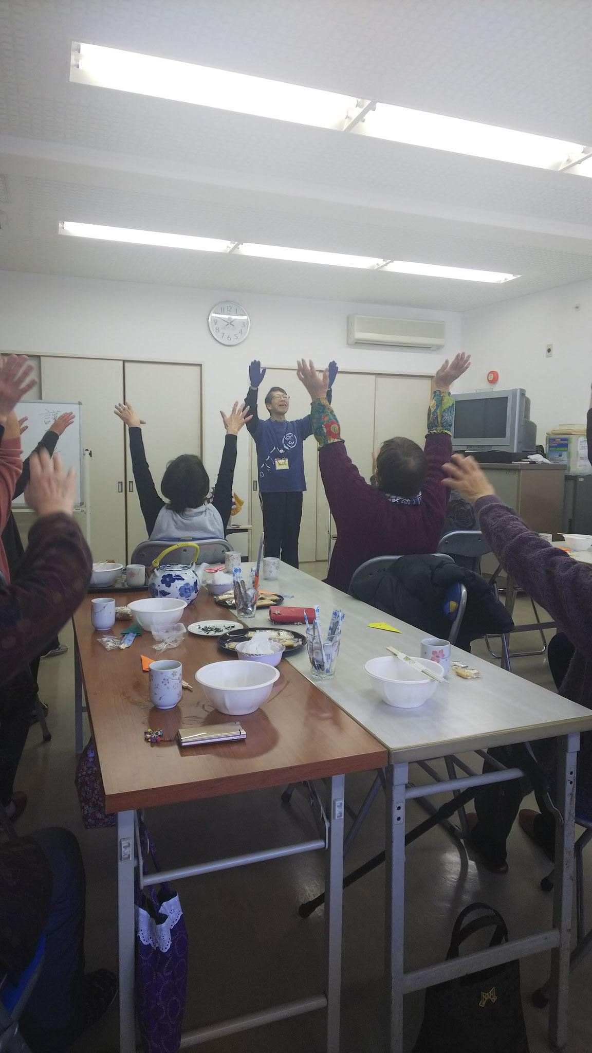 2019/01/07 富田林市緑ヶ丘福祉委員会 ティーサロンにて ツボ体操