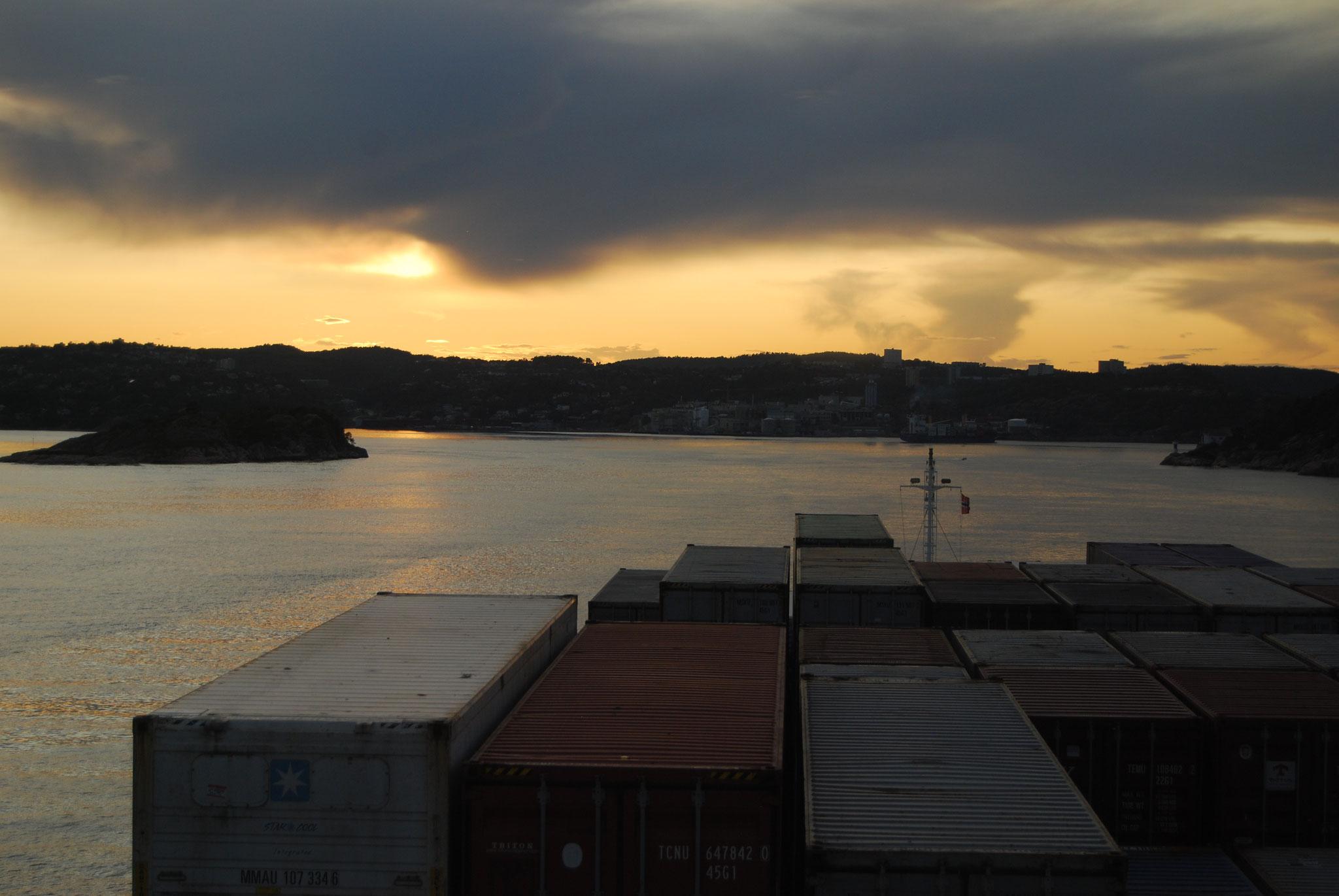 Dämmerung Richtung Kristiansand