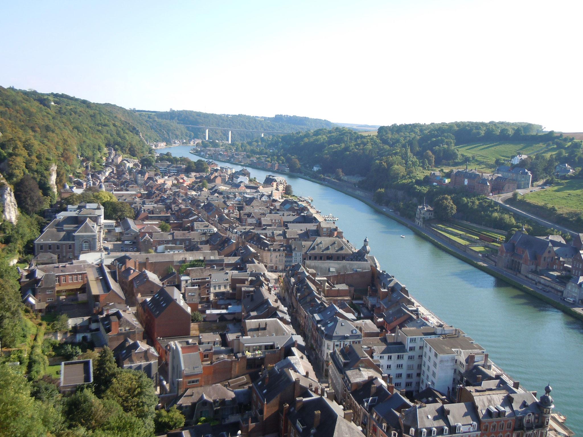 Blick auf die Meuse von der Zitadelle aus