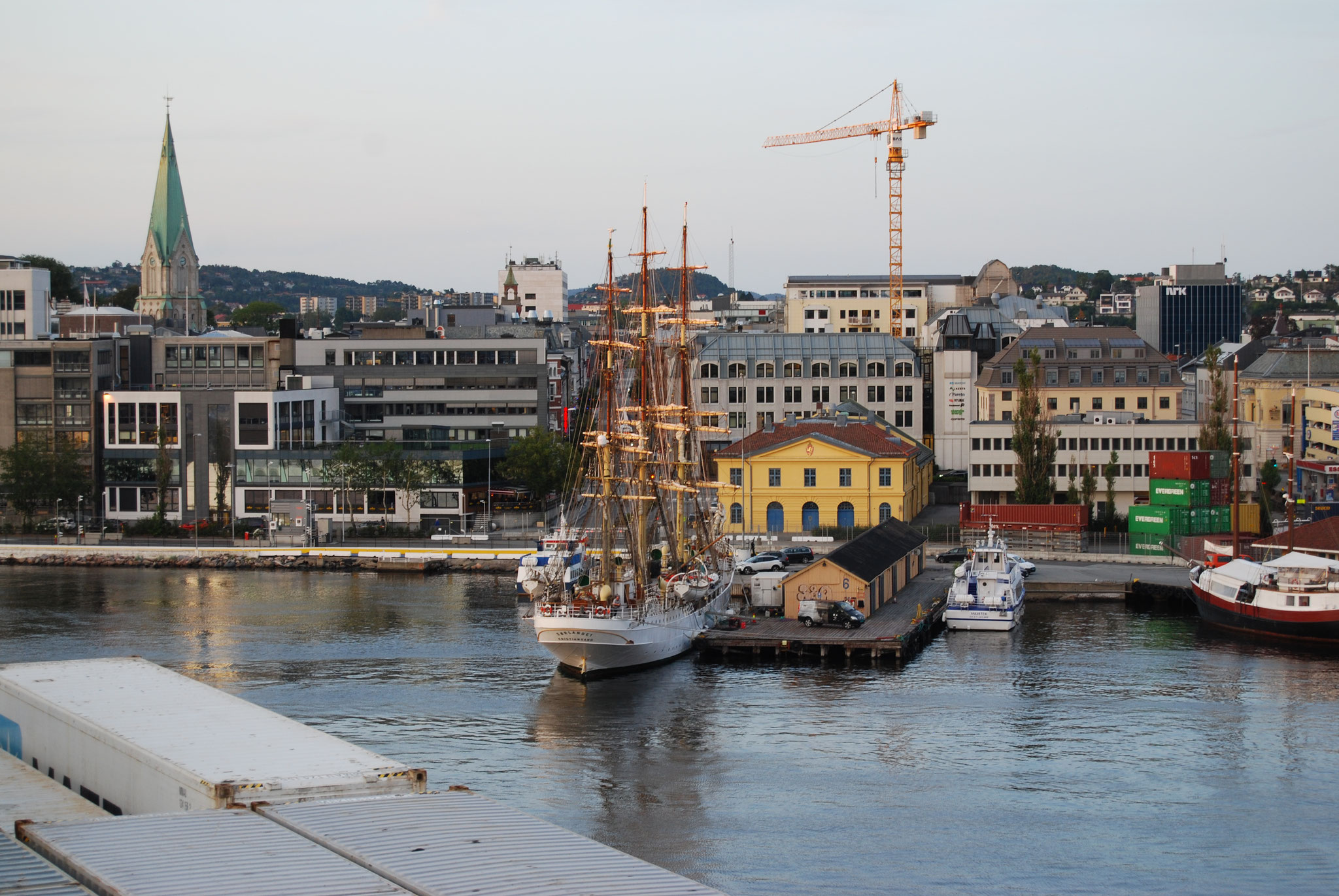 Einfahrt Hafen Kristiansand