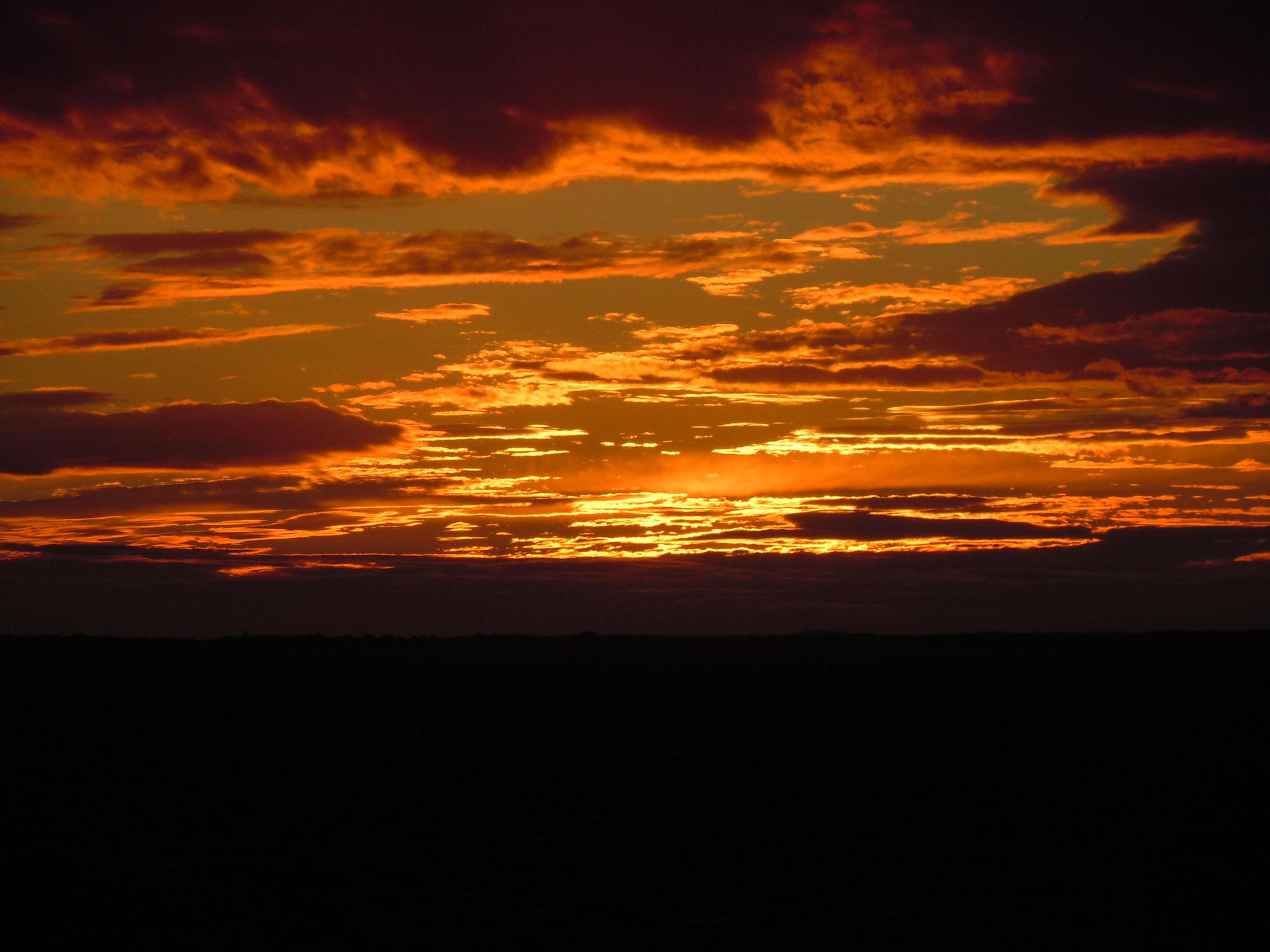 Sonneuntergang auf der Ostsee