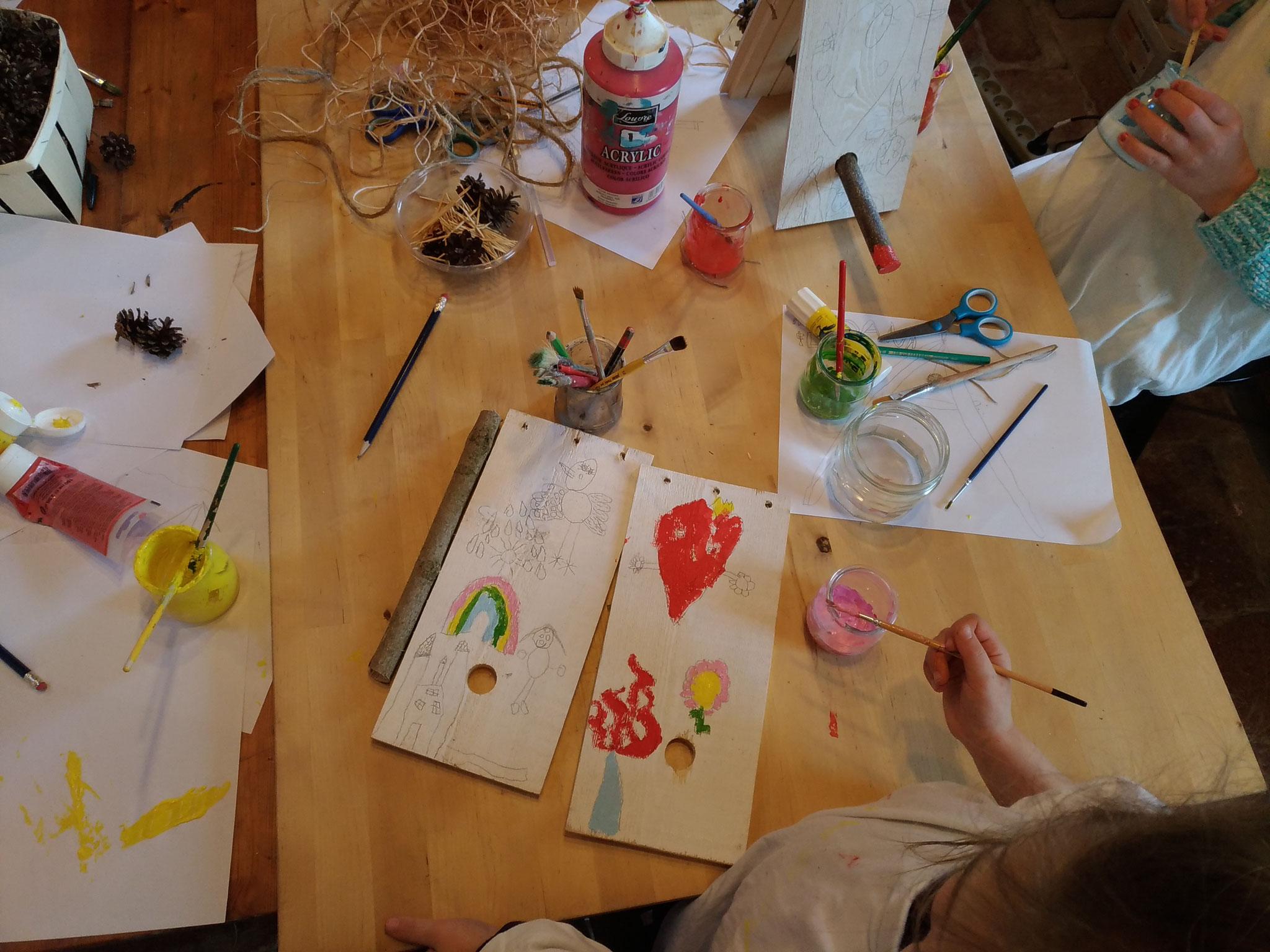 """""""Cabane à oiseau"""", peinture"""