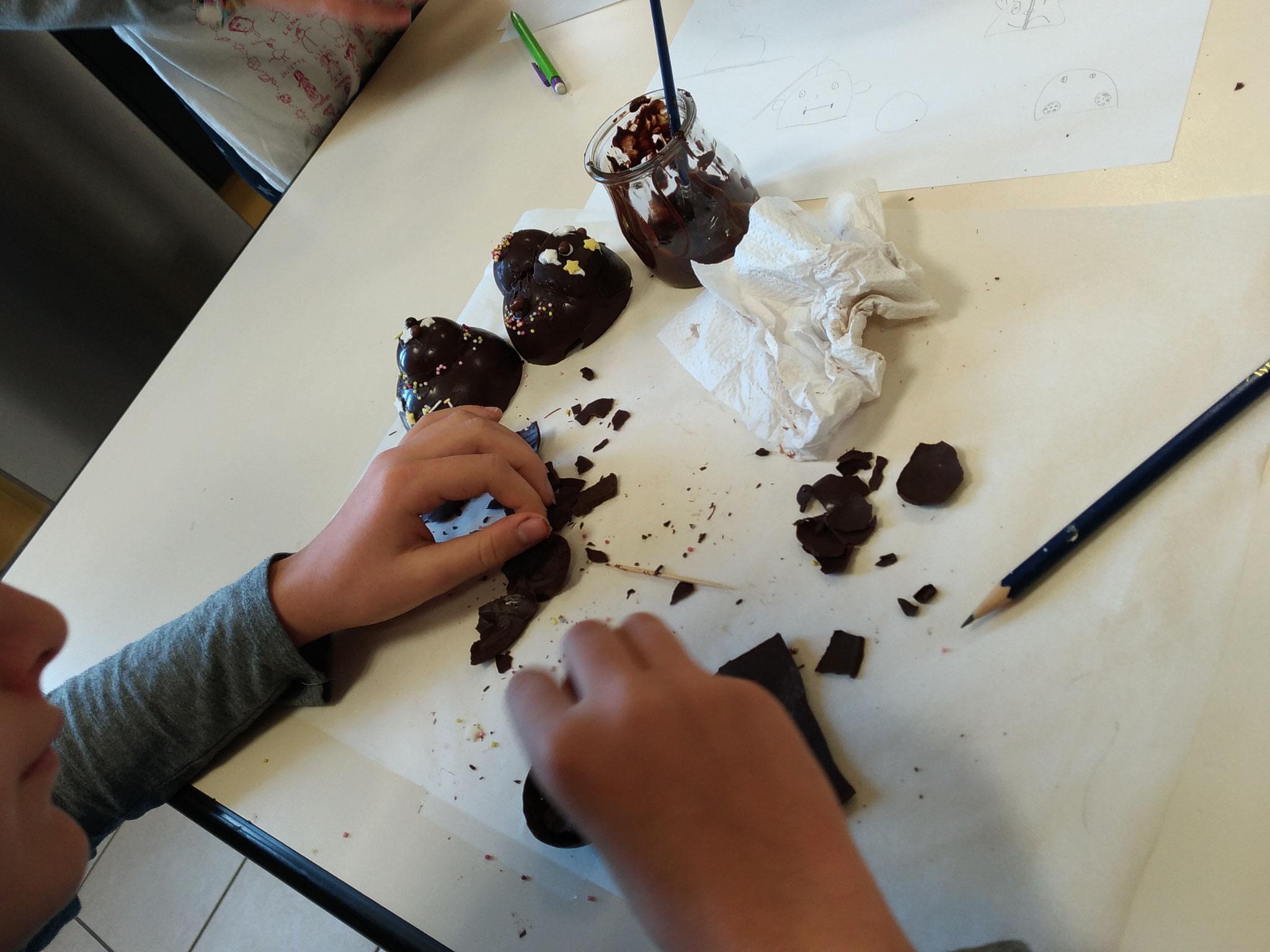 """En pleine création """"Atelier sculpture en chocolat"""""""