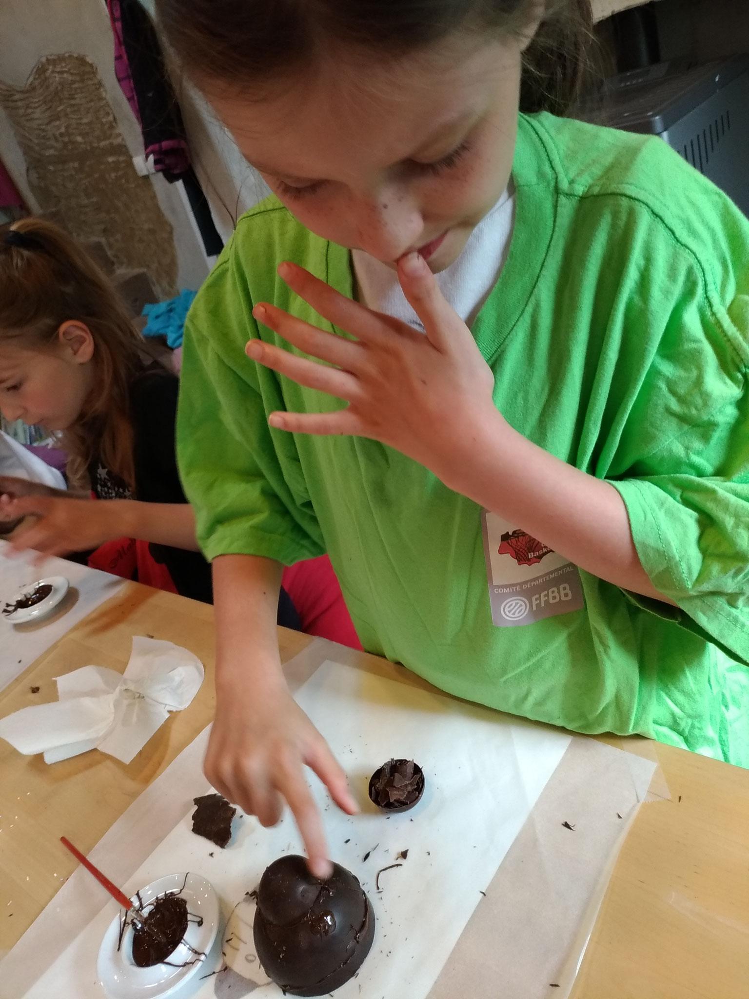 """Miam! On se lèche les doigts! """"Sculpture en chocolat"""""""